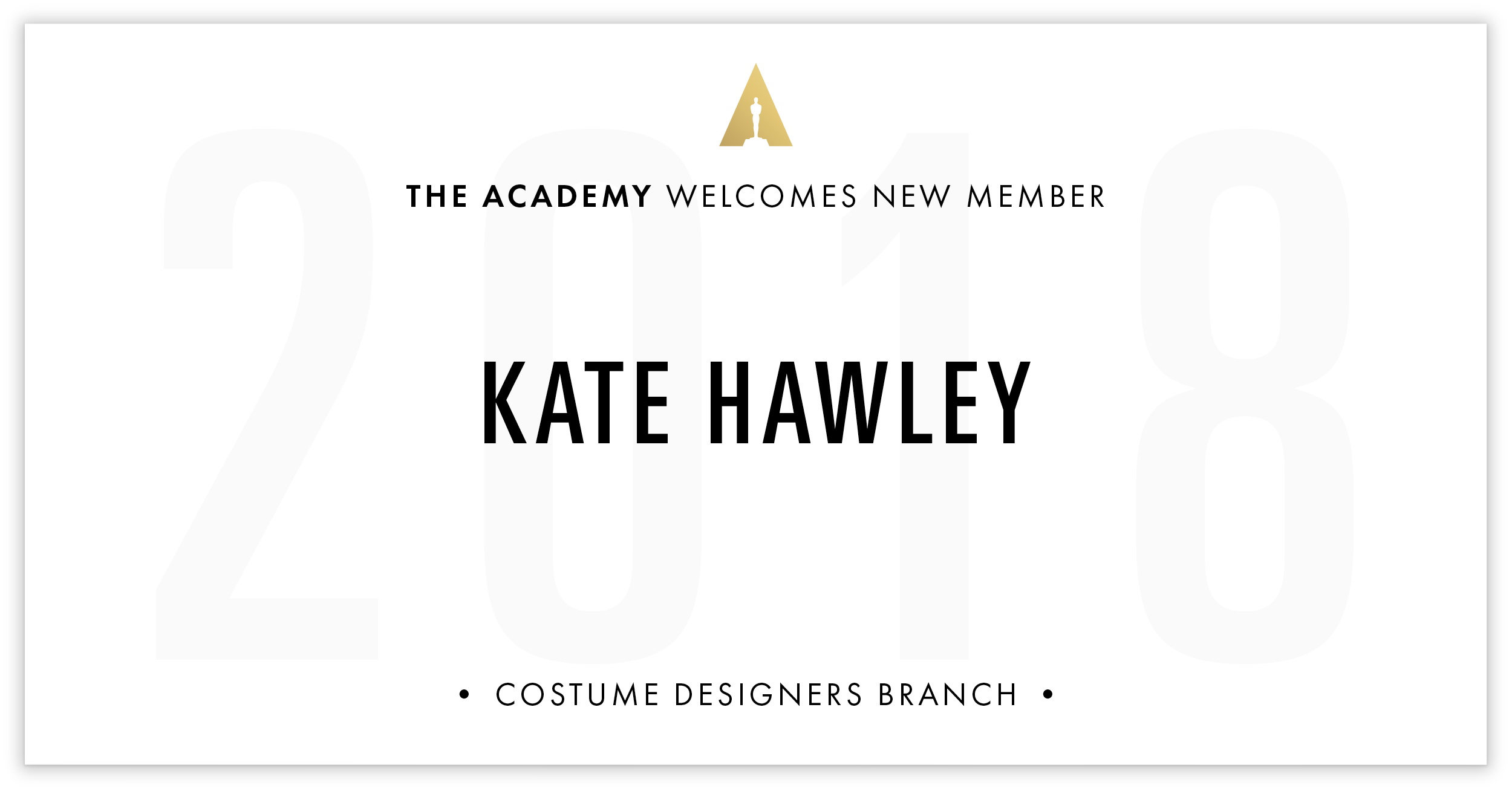 Kate Hawley is invited!