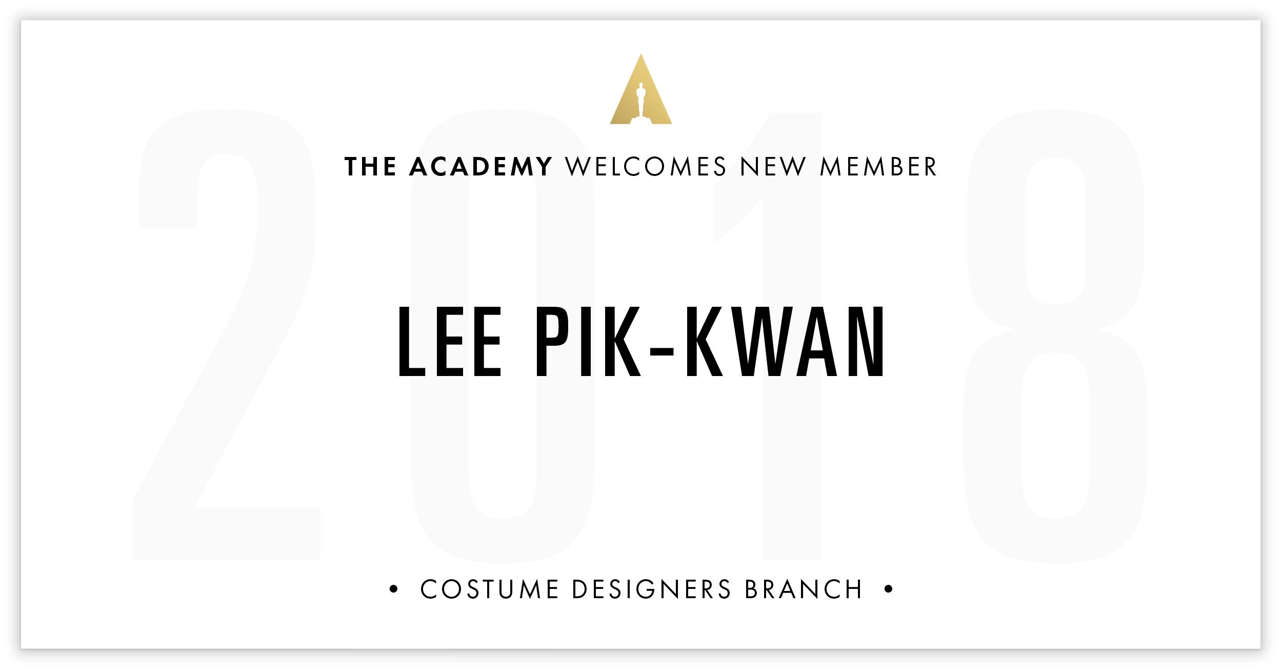 Lee Pik-Kwan is invited!