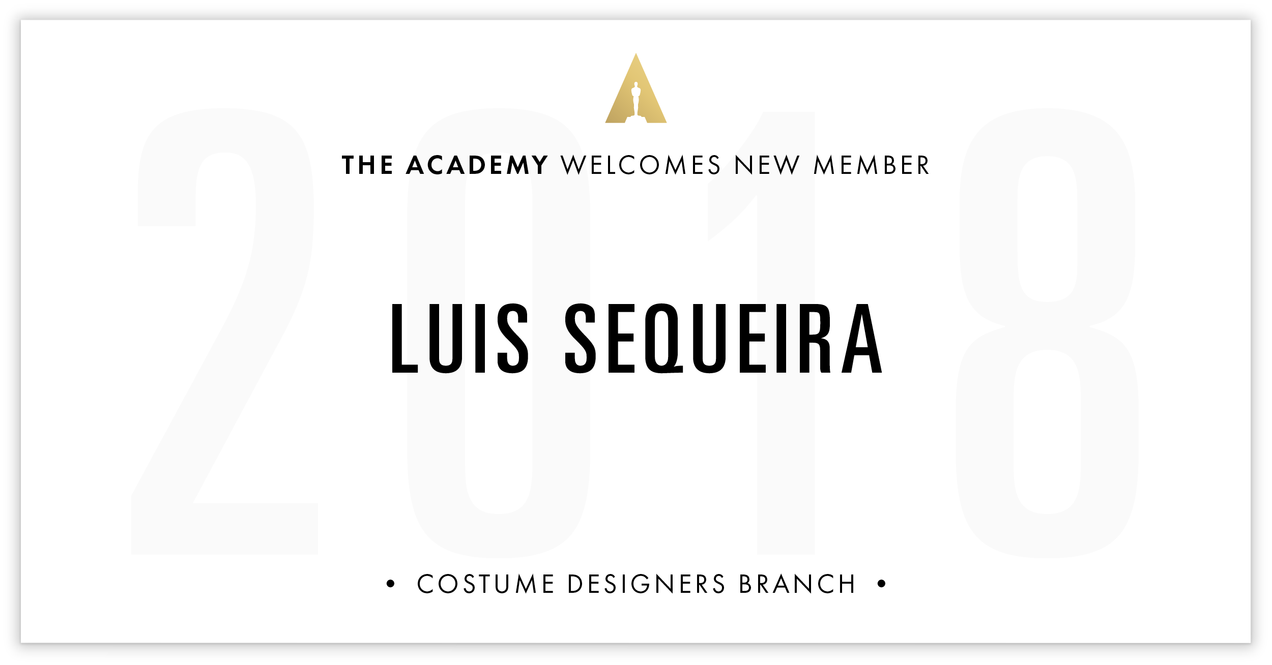 Luis Sequeira is invited!