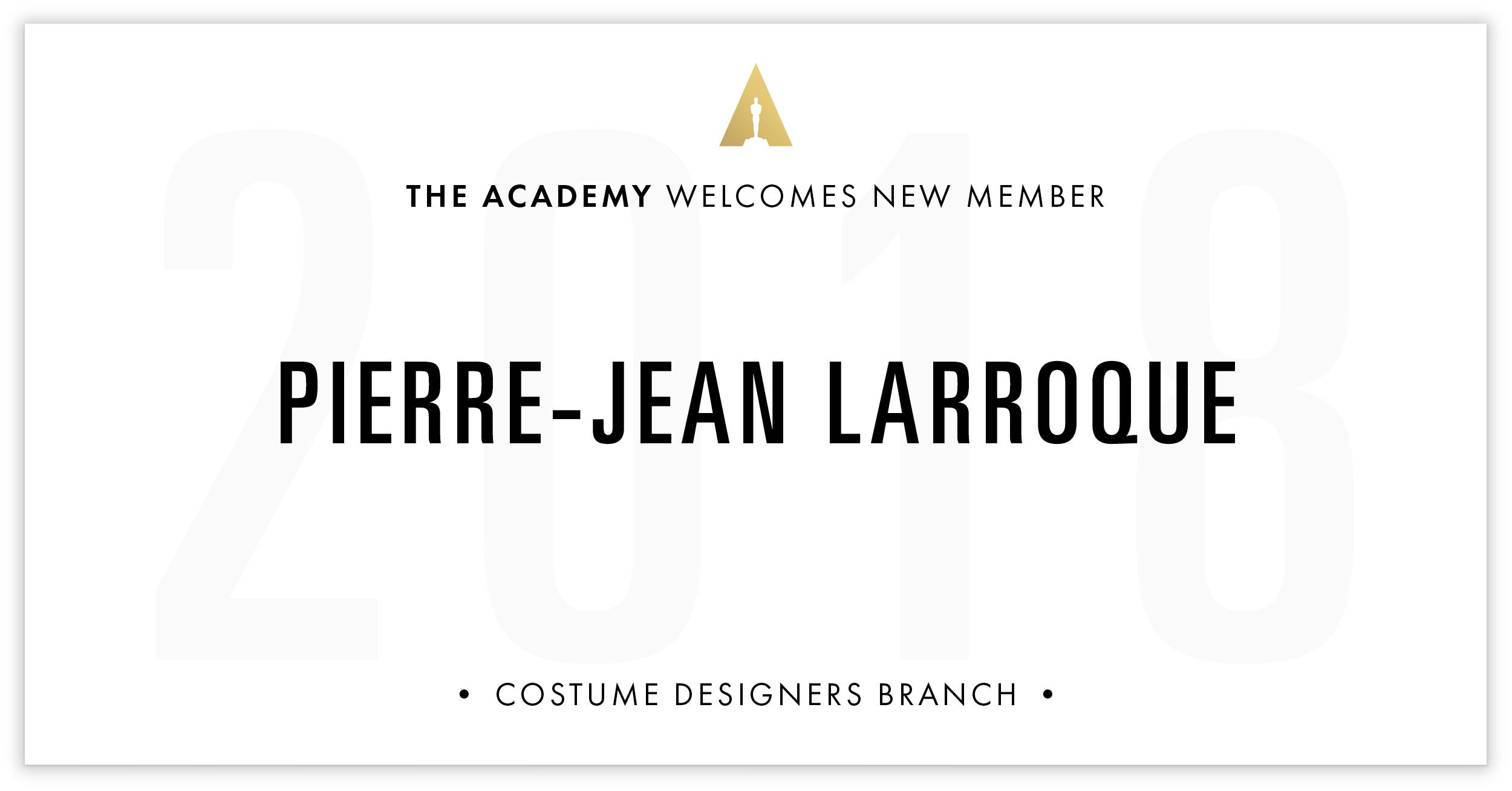 Pierre-Jean Larroque is invited!