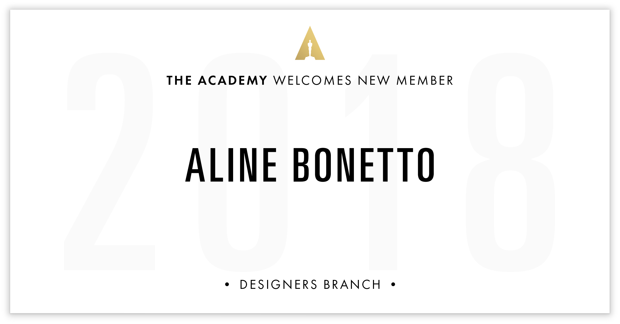 Aline Bonetto is invited!