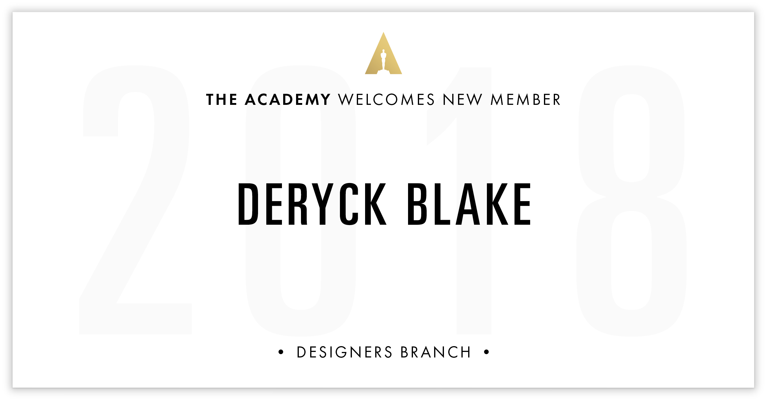 Deryck Blake is invited!