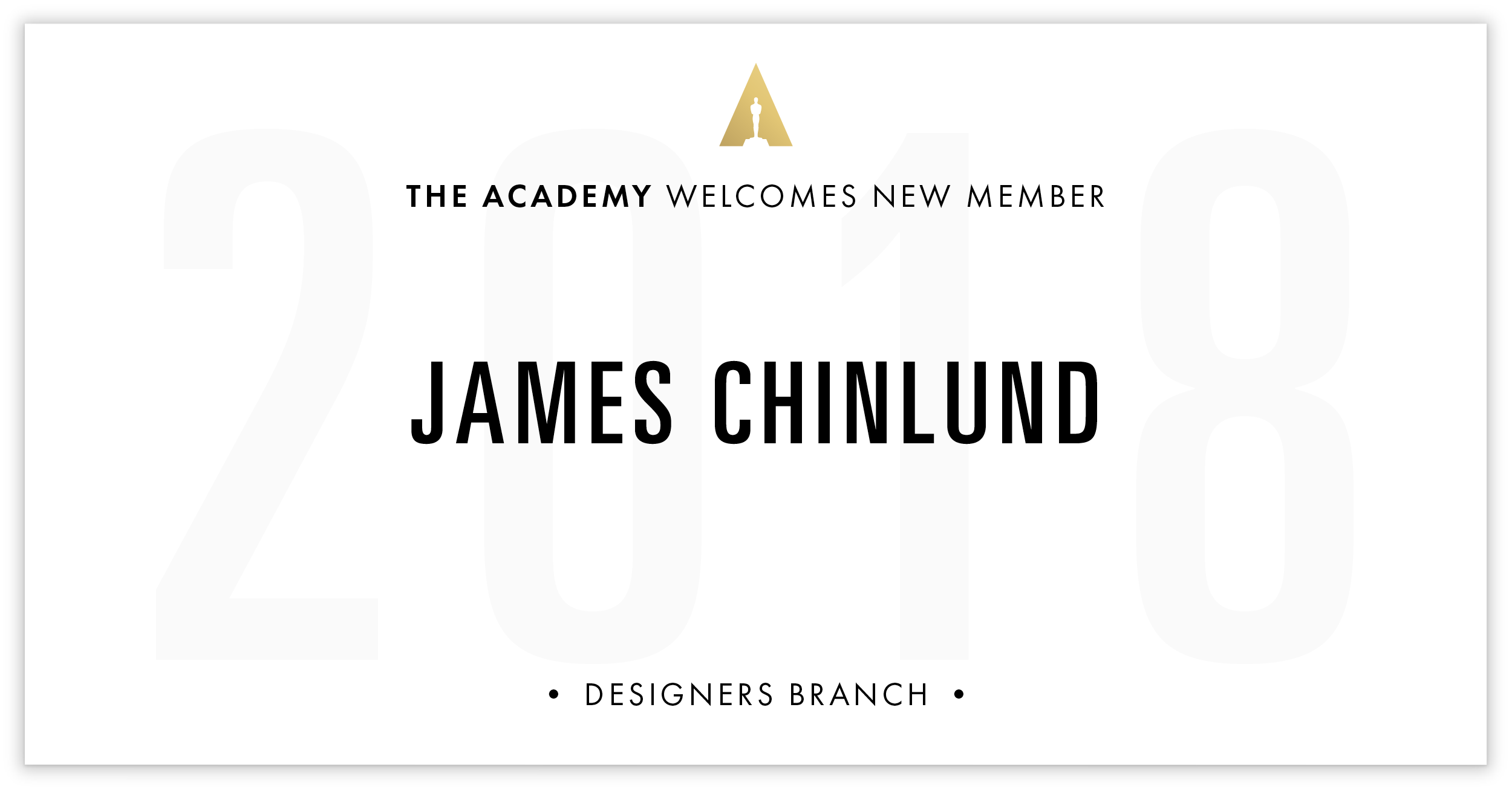 James Chinlund is invited!