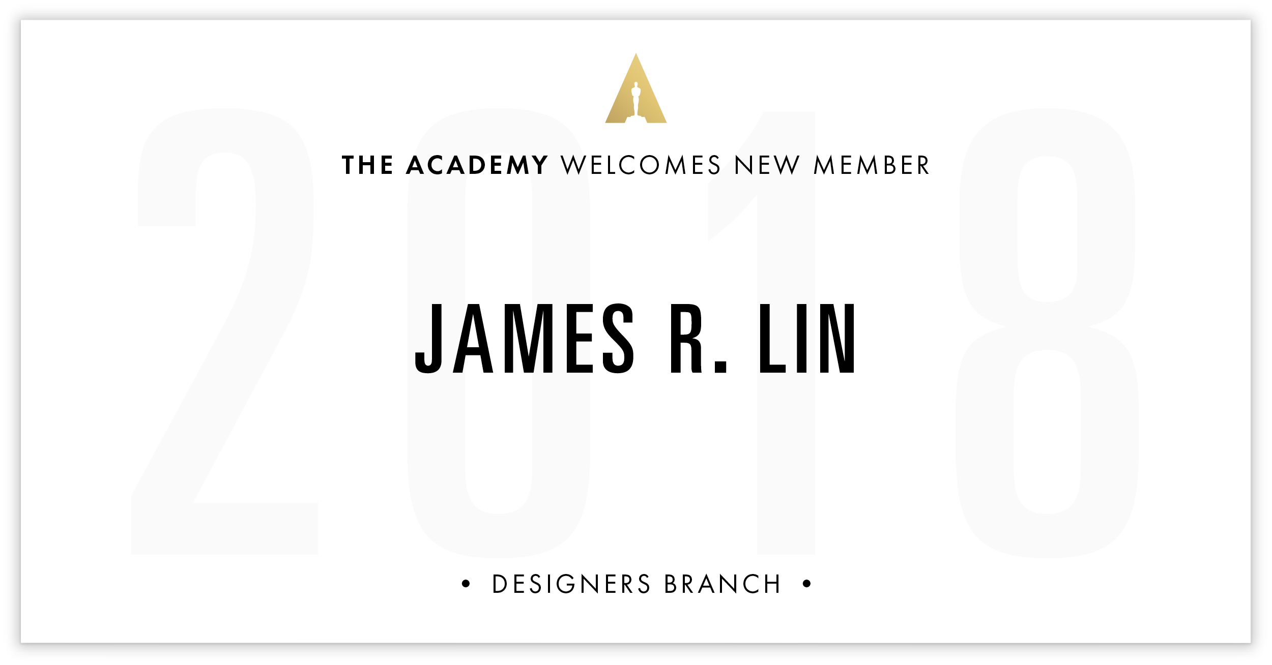 James Lin is invited!
