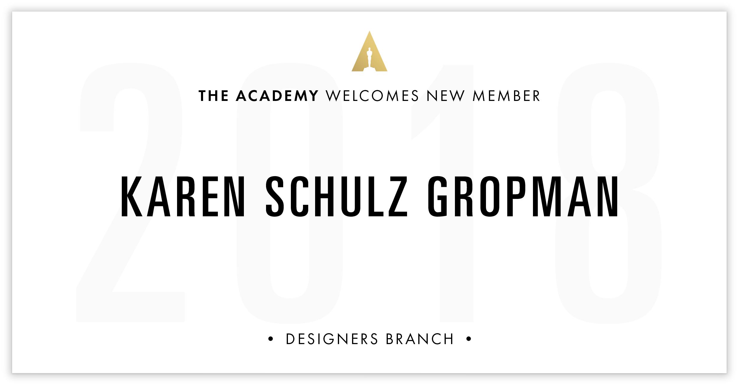 Karen Gropman is invited!