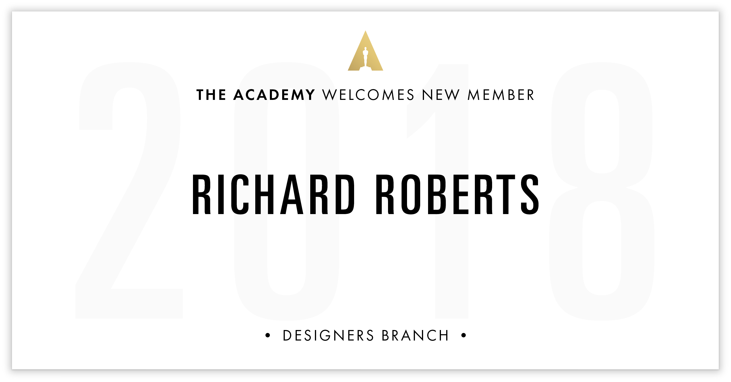 Richard Roberts is invited!
