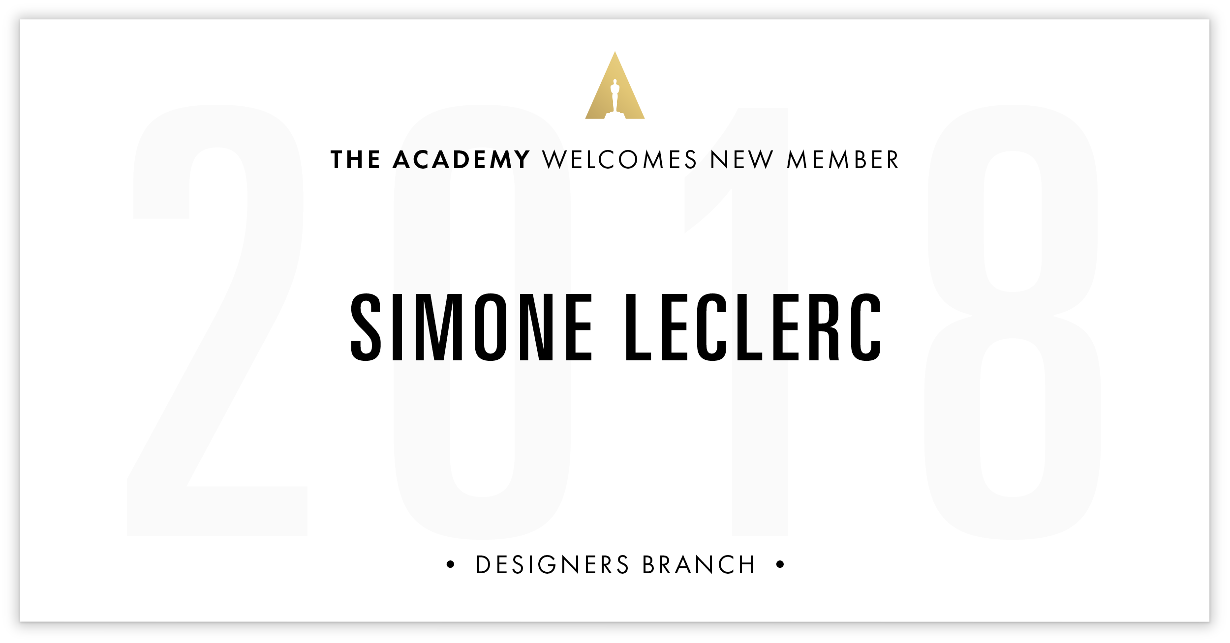 Simone Leclerc is invited!
