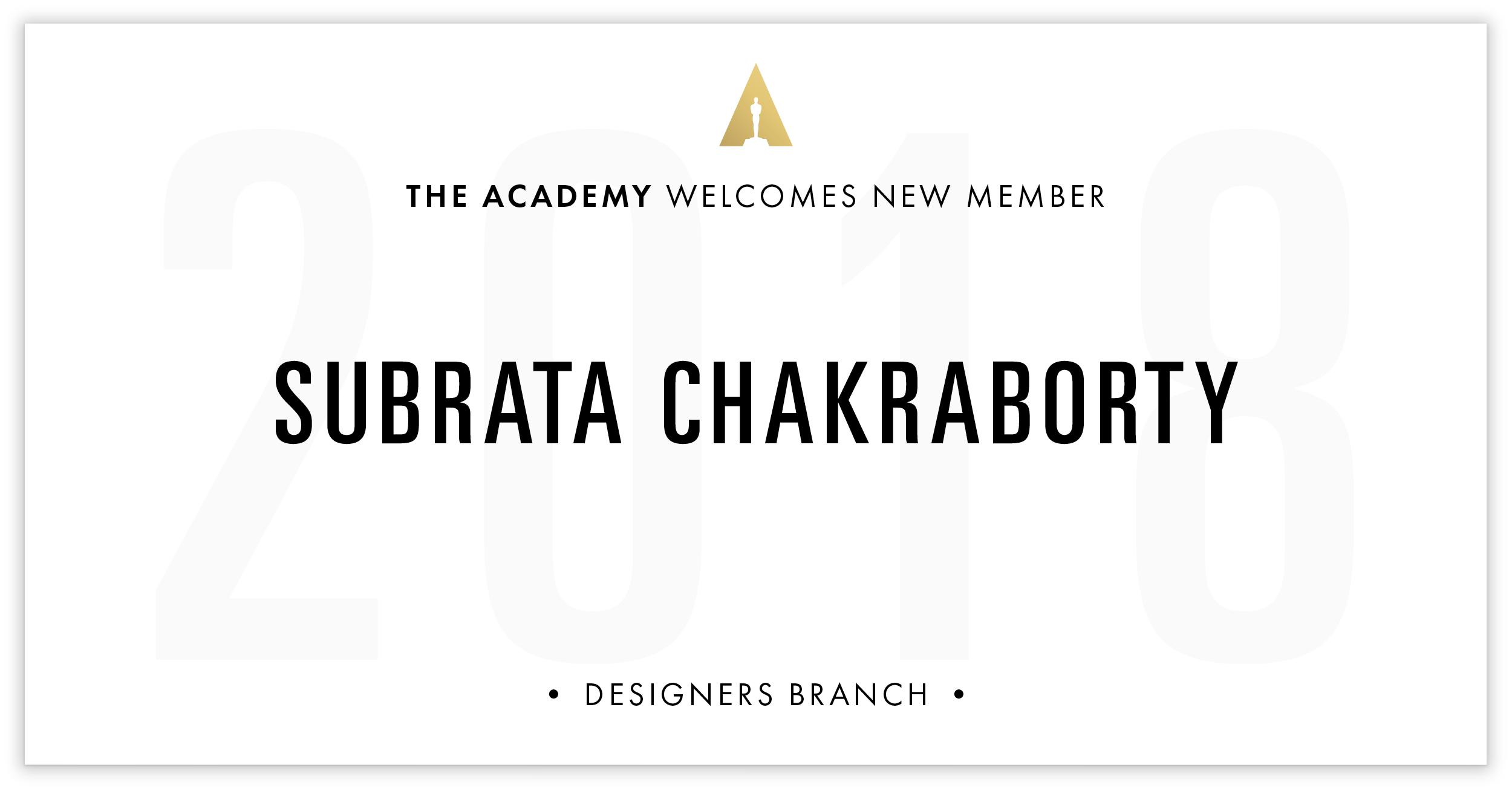 Subrata Chakraborty is invited!