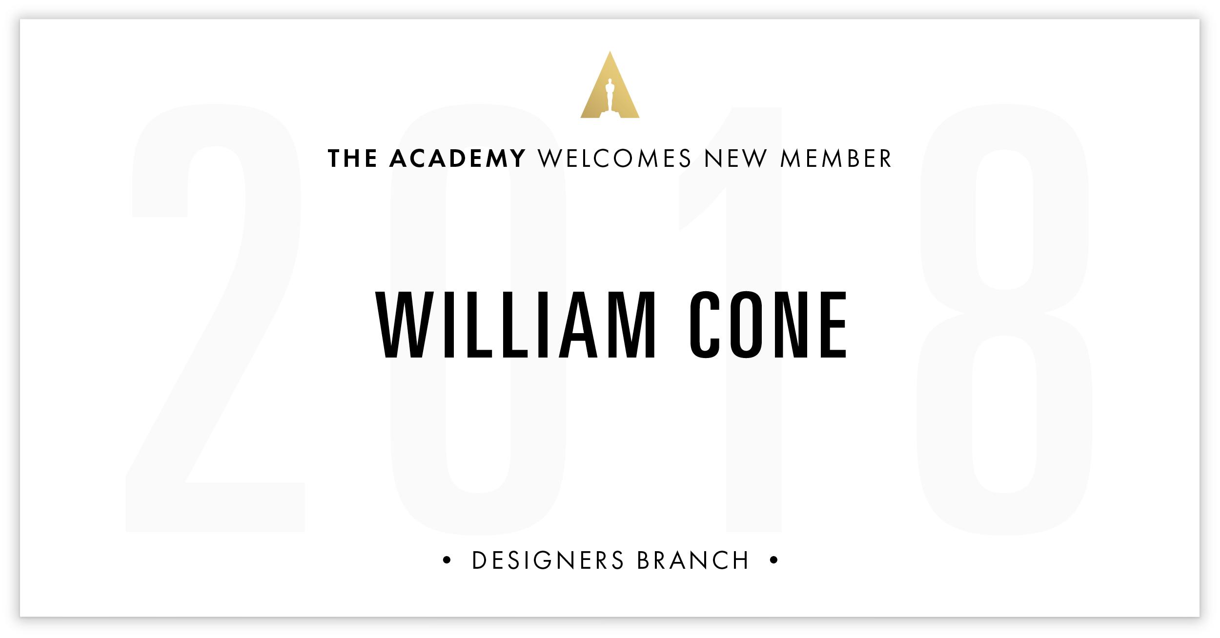 William Cone is invited!