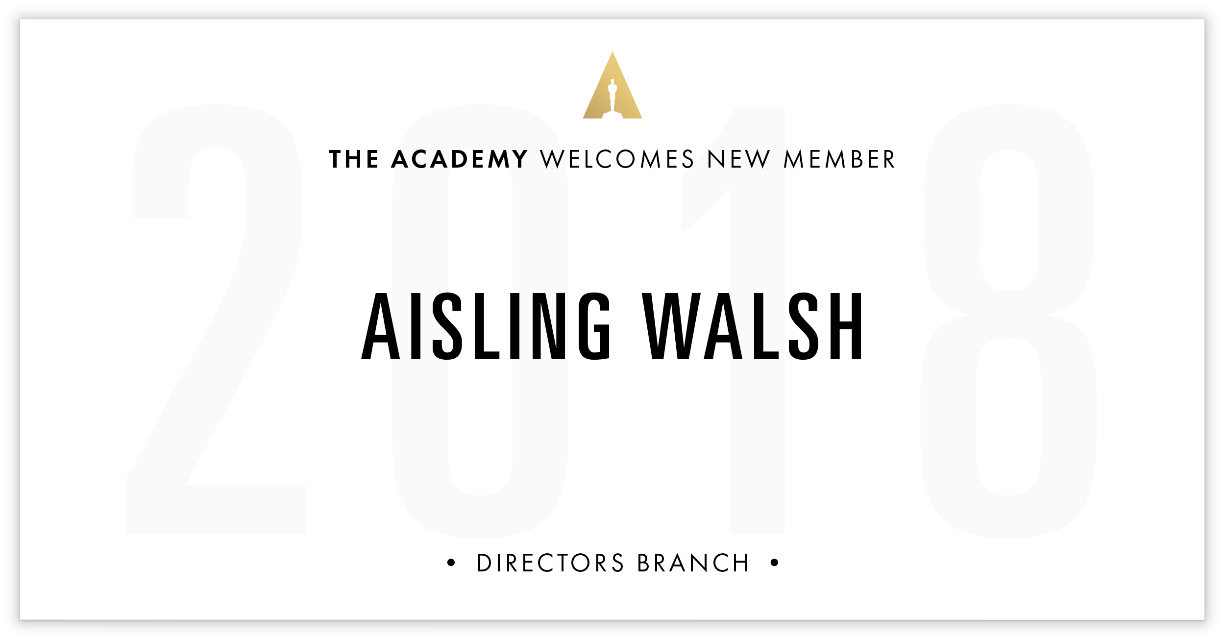 Aisling Walsh is invited!
