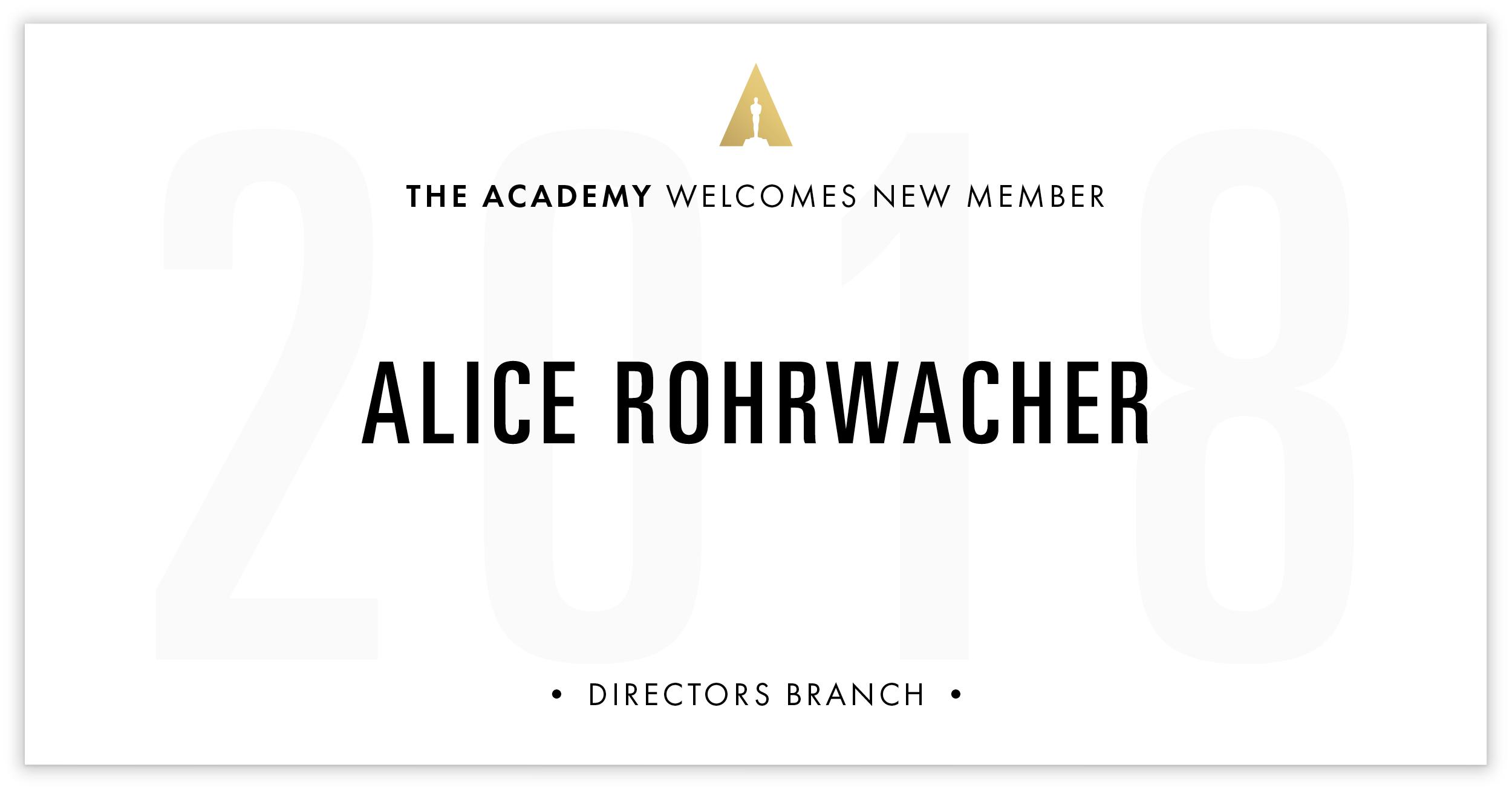 Alice Rohrwacher is invited!
