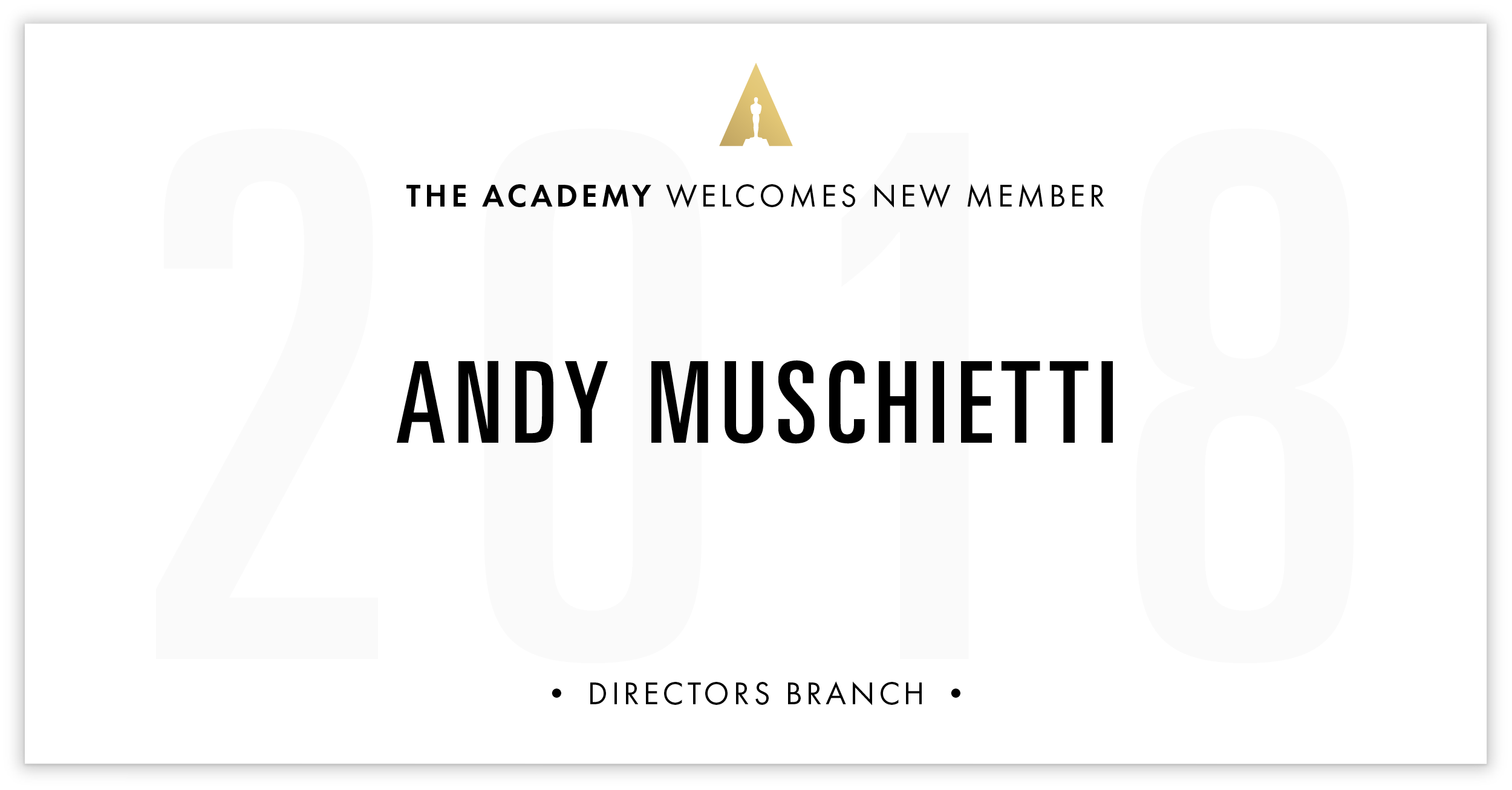 Andy Muschietti is invited!