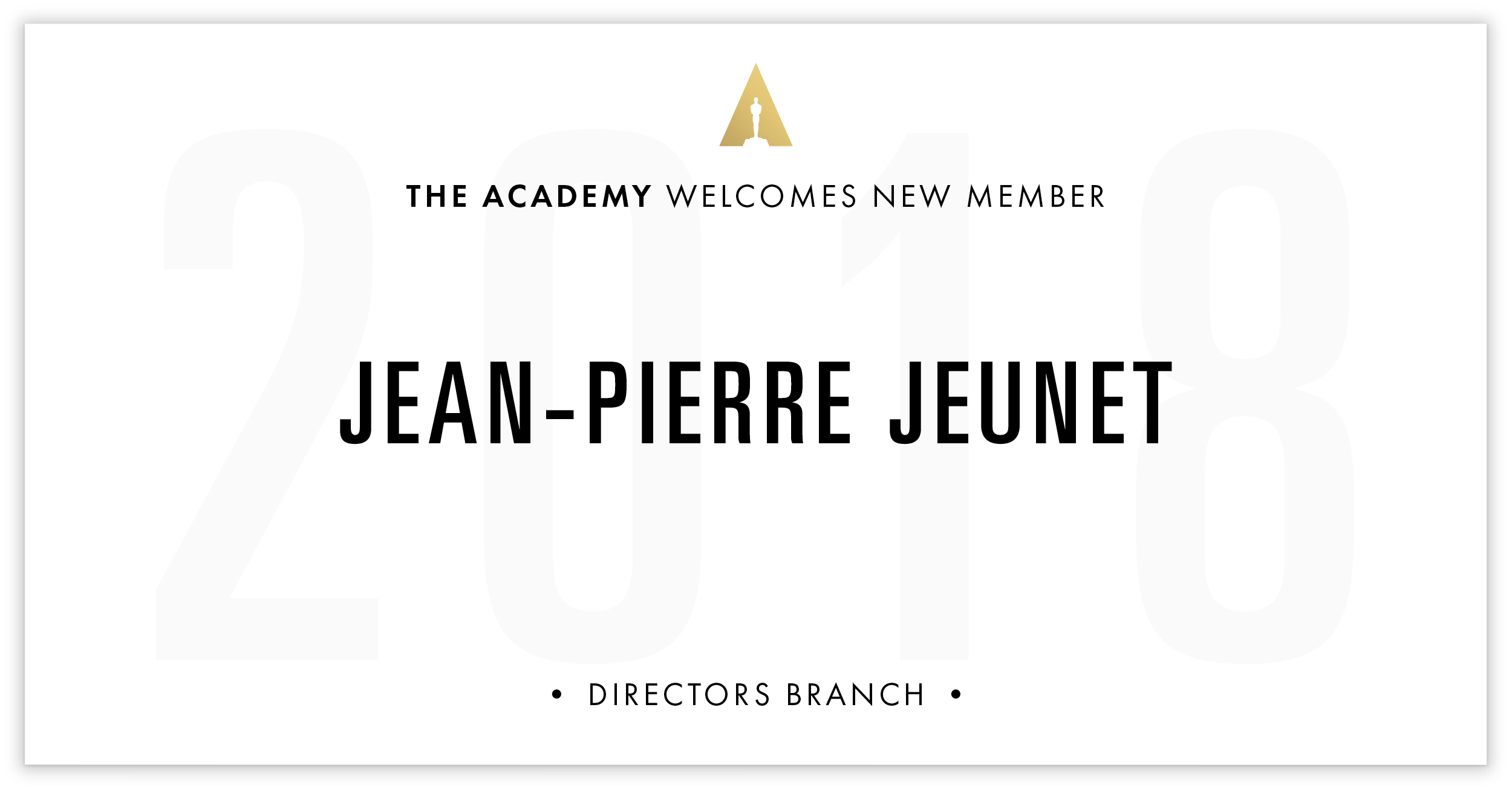 Jean-Pierre Jeunet is invited!