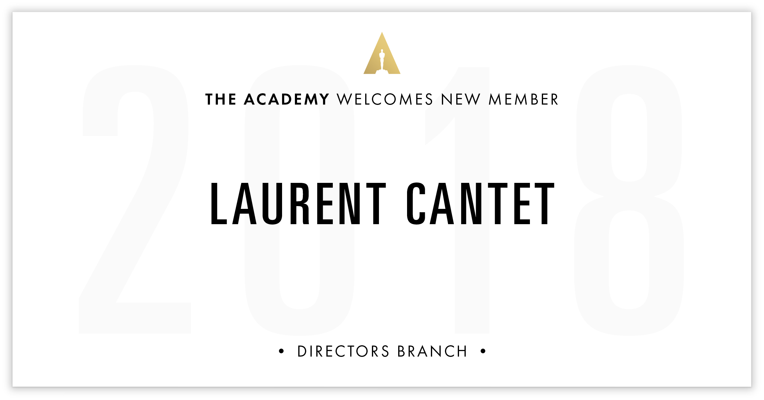 Laurent Cantet is invited!