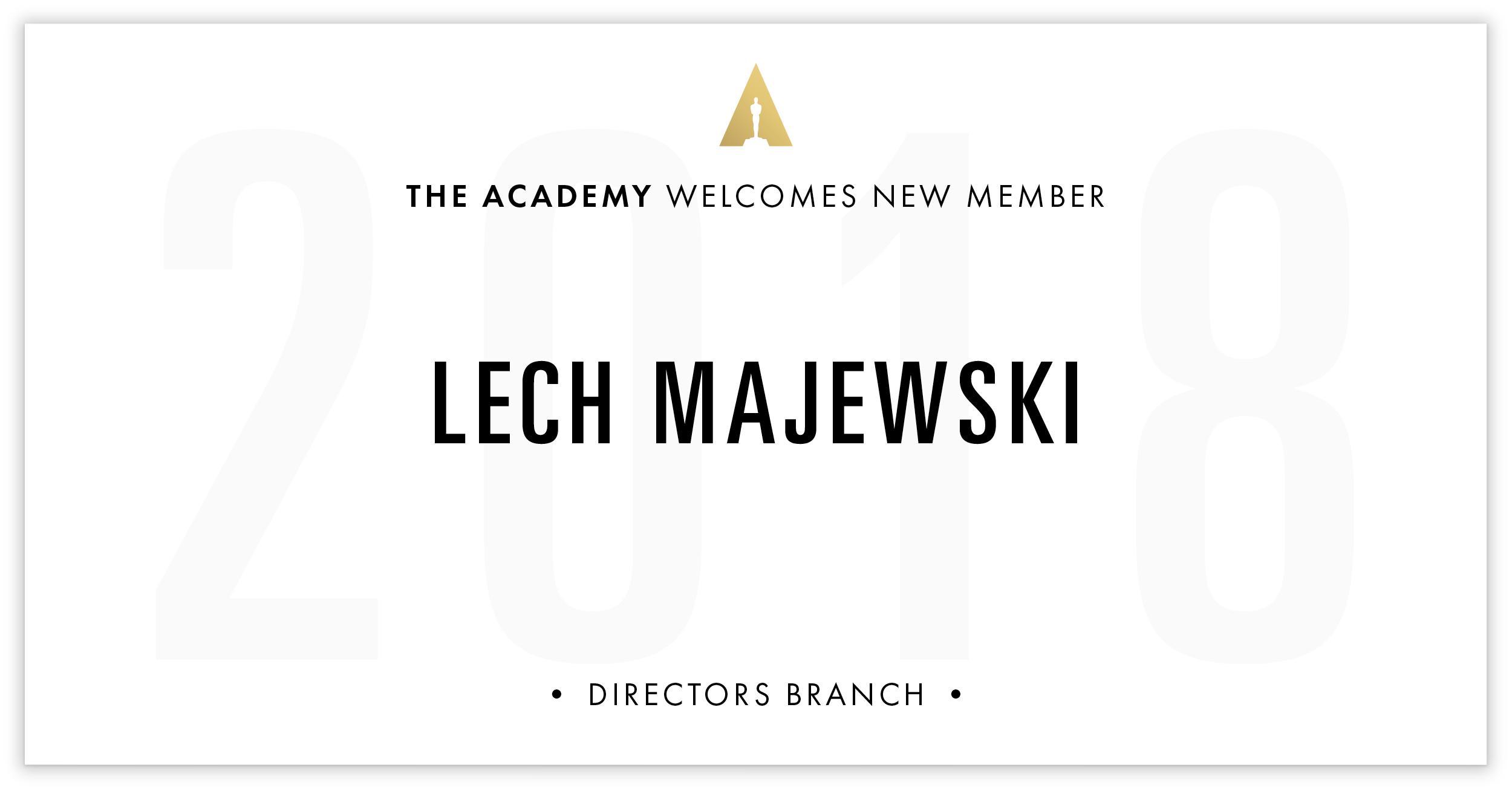 Lech Majewski is invited!