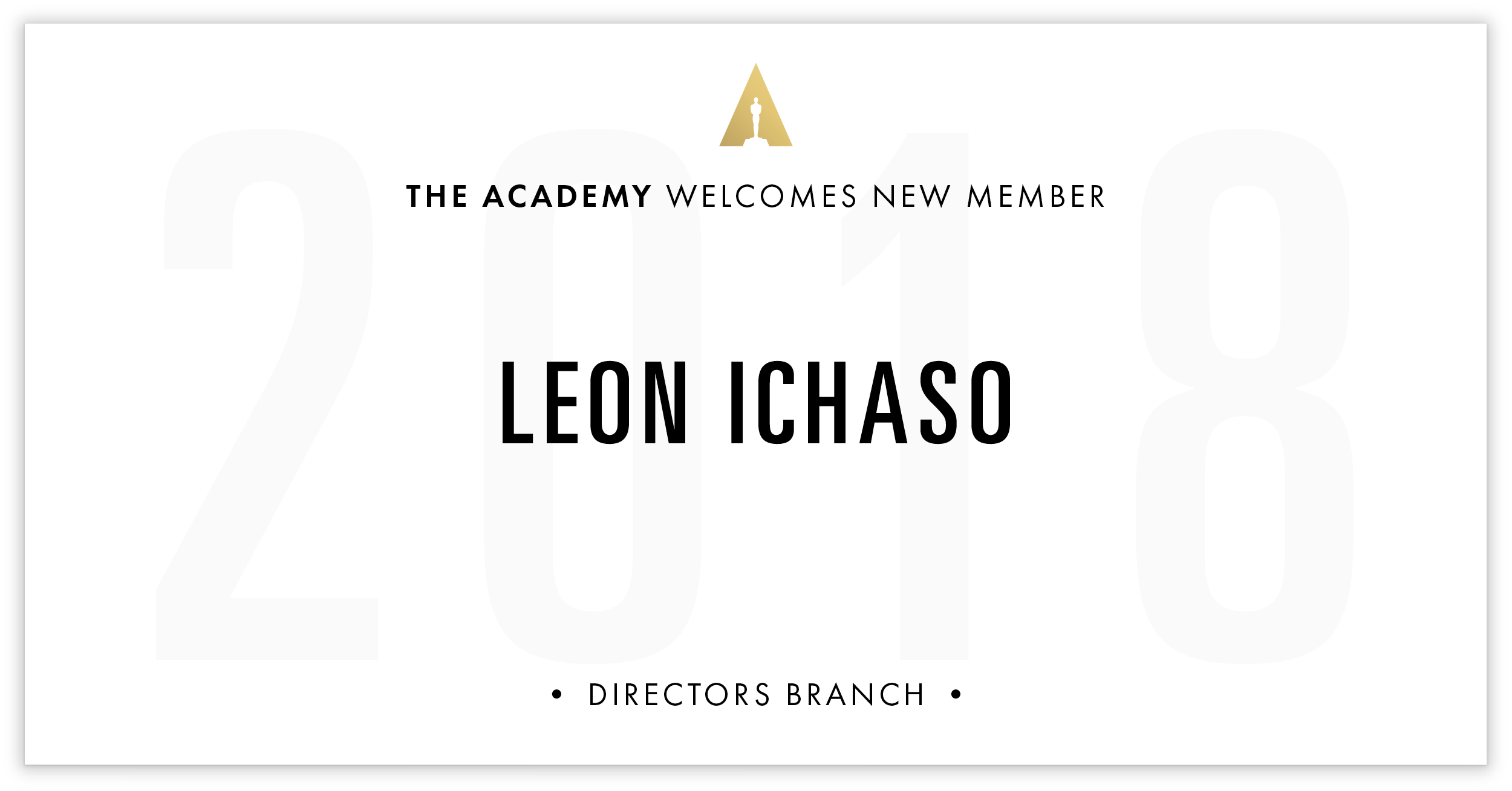 Leon Ichaso is invited!