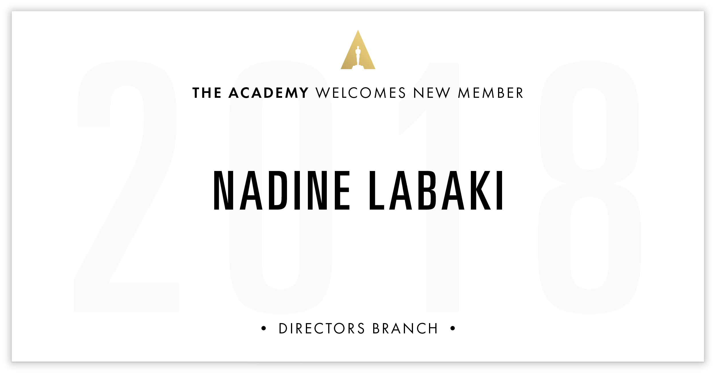 Nadine Labaki is invited!