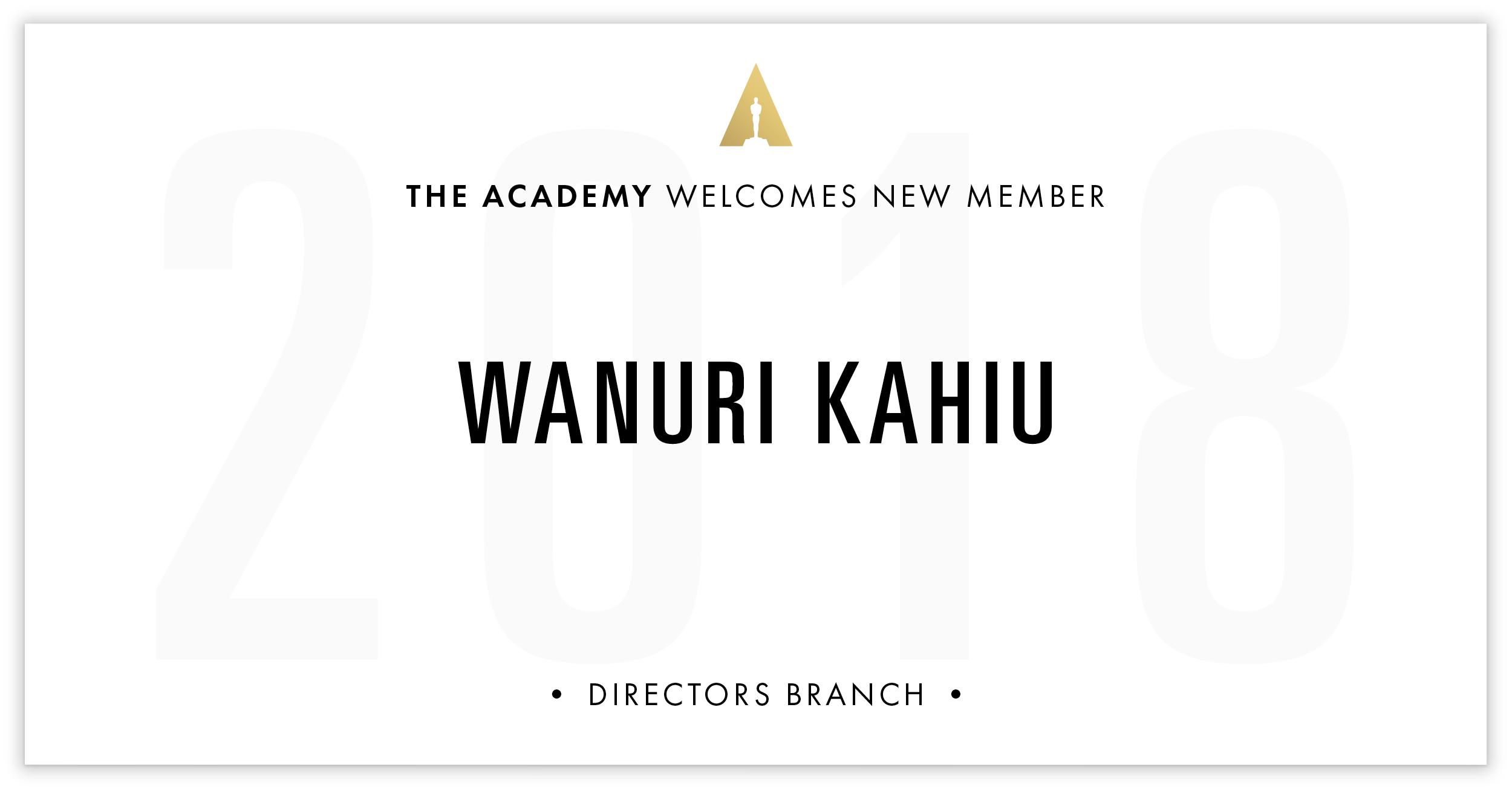Wanuri Kahiu is invited!