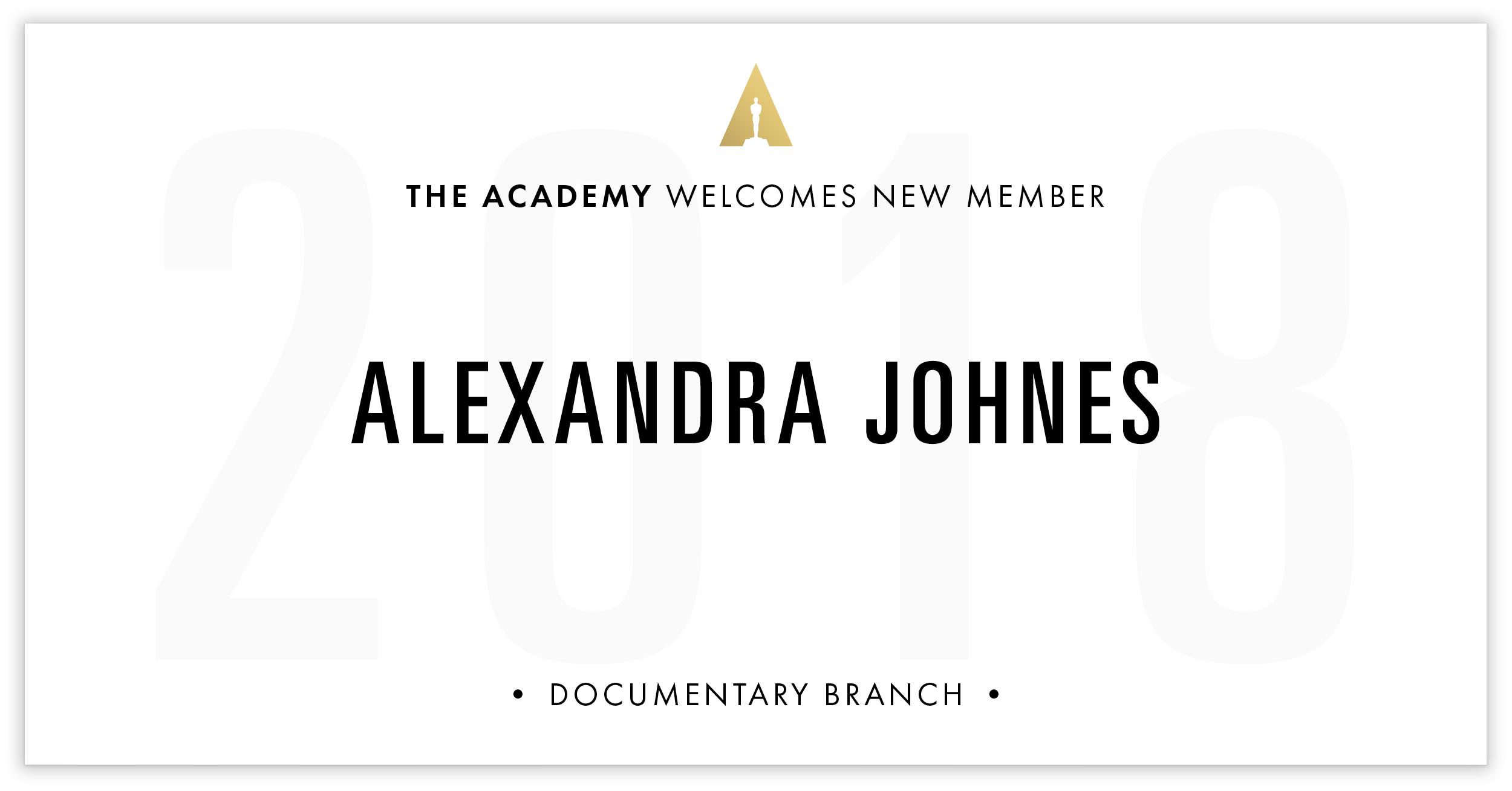 Alexandra Johnes is invited!