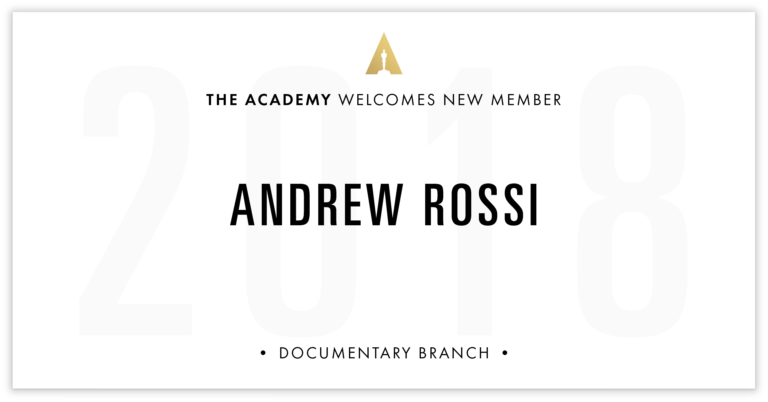 Andrew Rossi is invited!