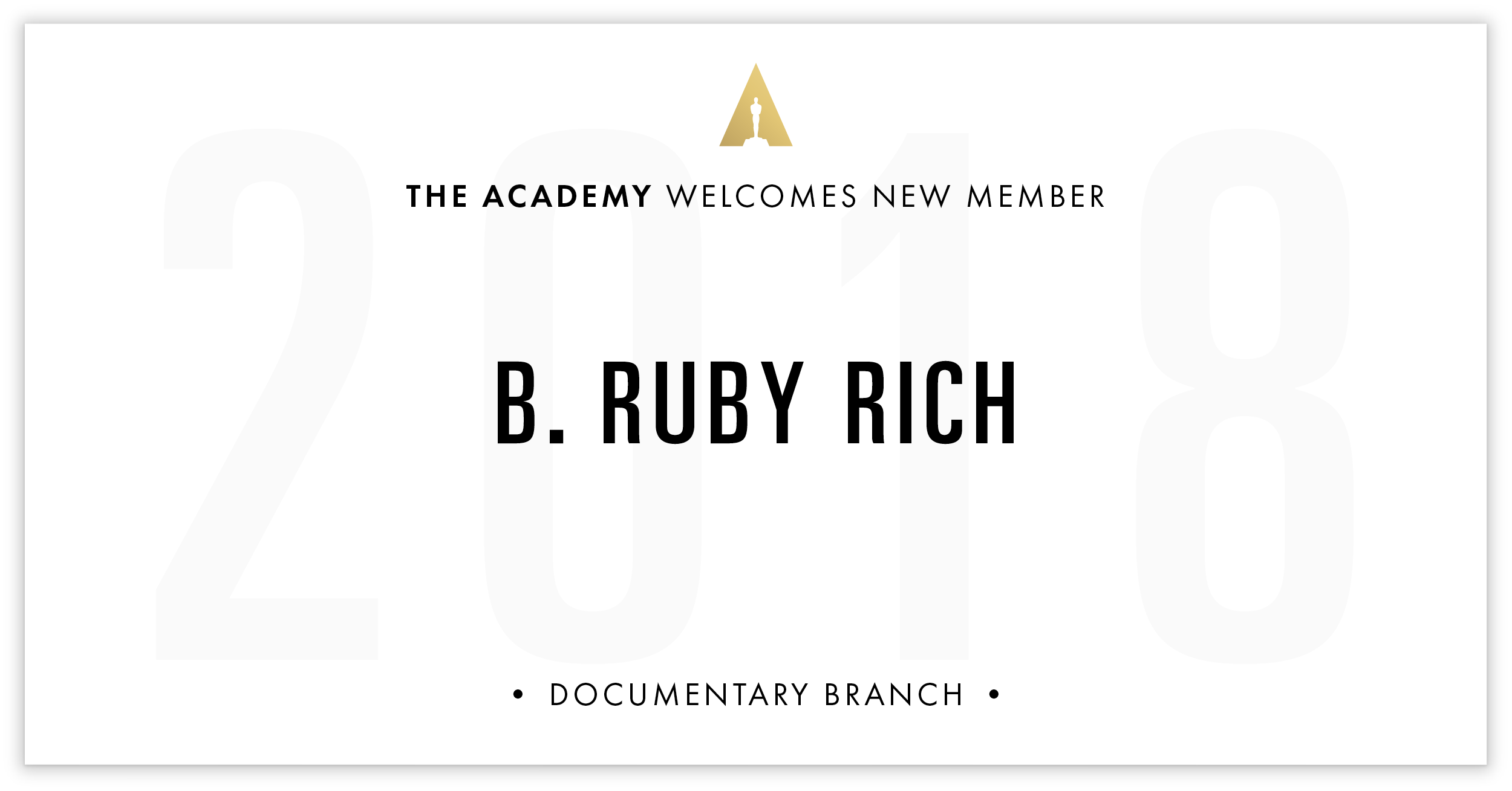 B. Ruby Rich is invited!