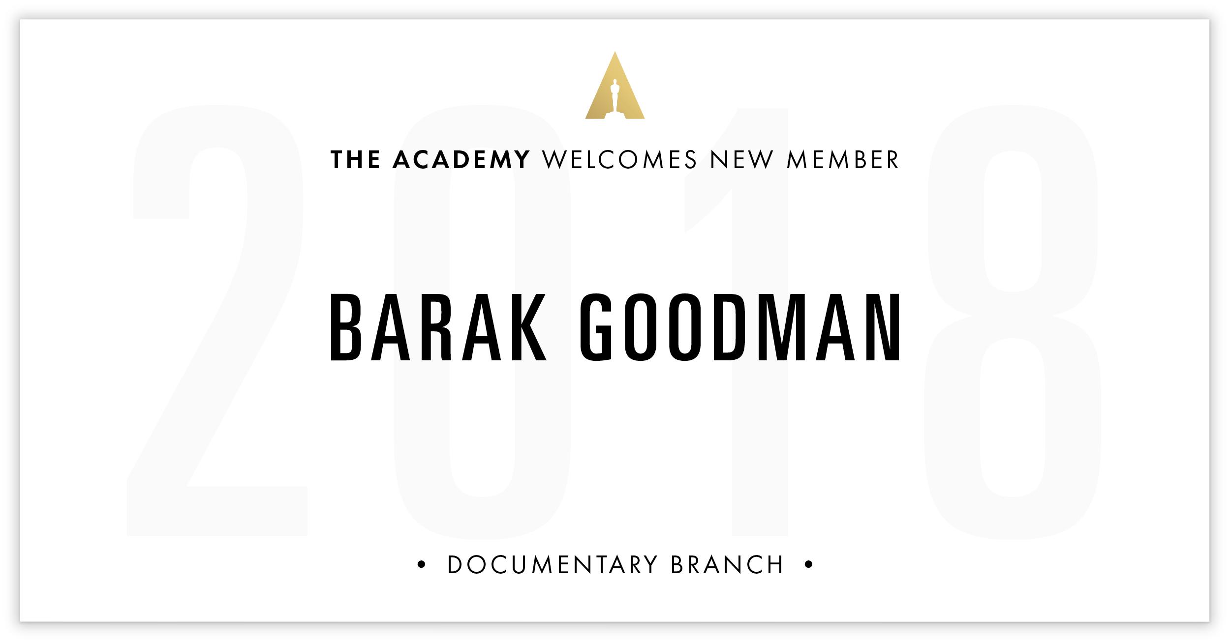 Barak Goodman is invited!