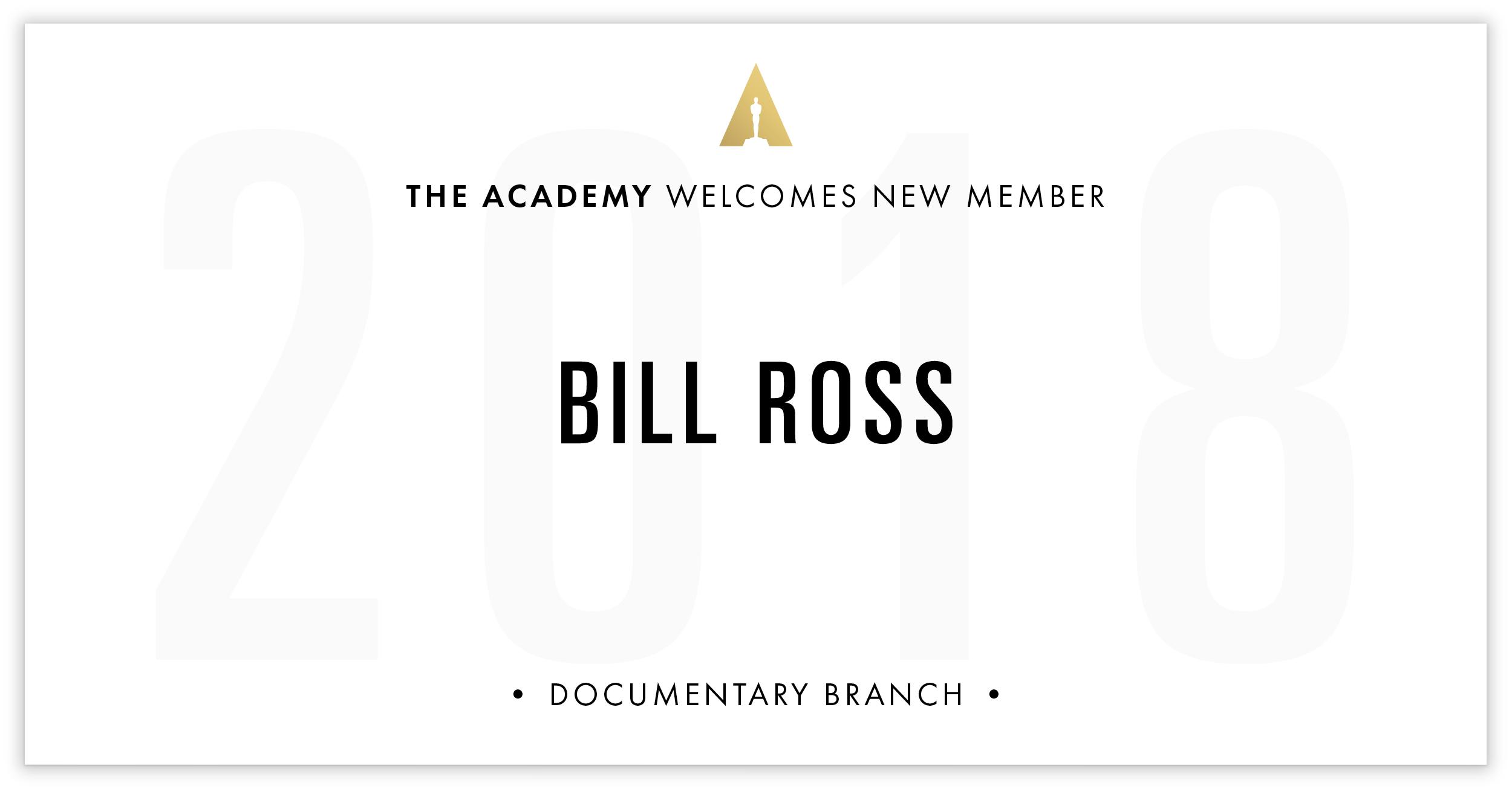 Bill Ross is invited!