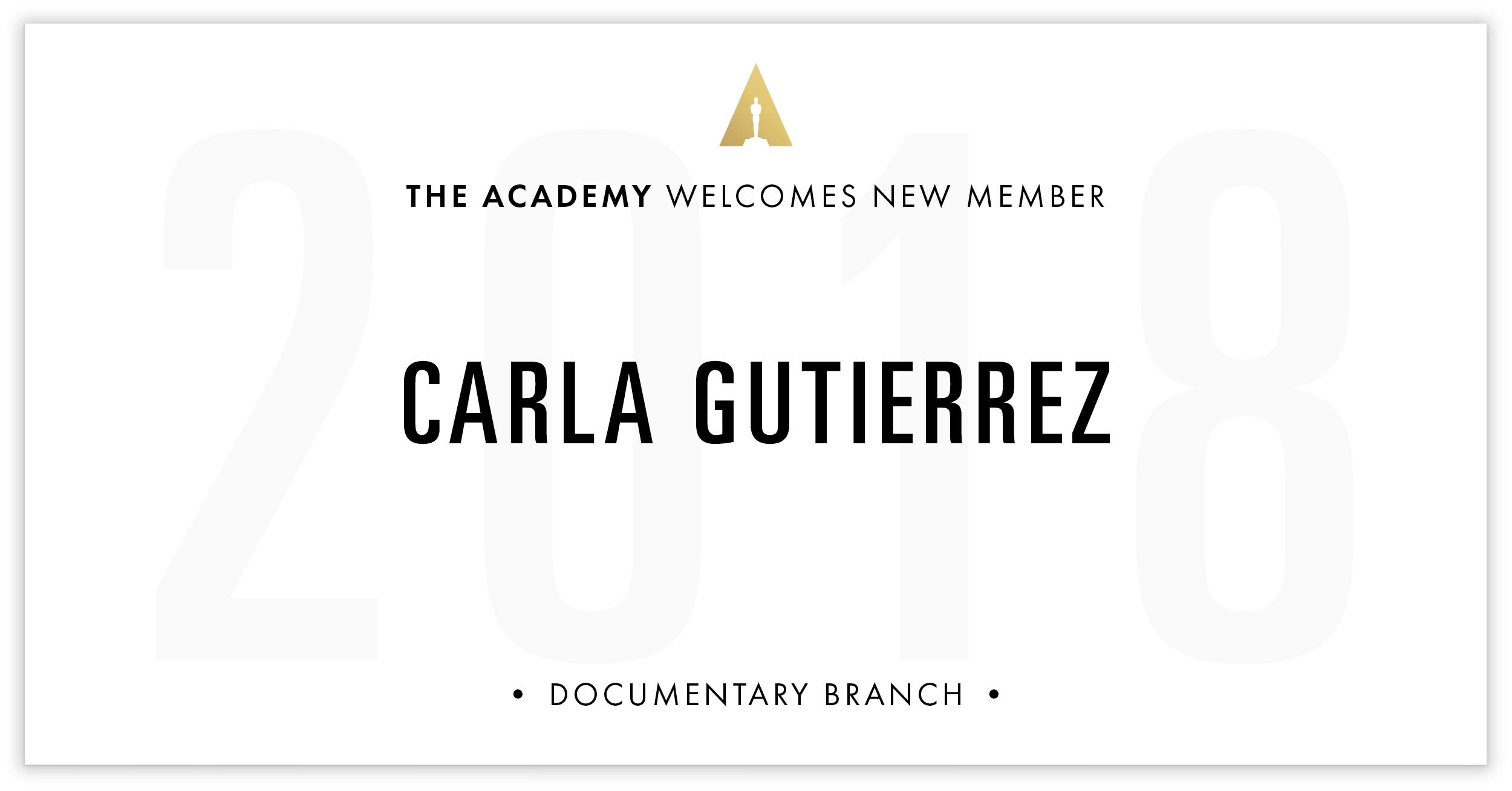 Carla Gutierrez is invited!