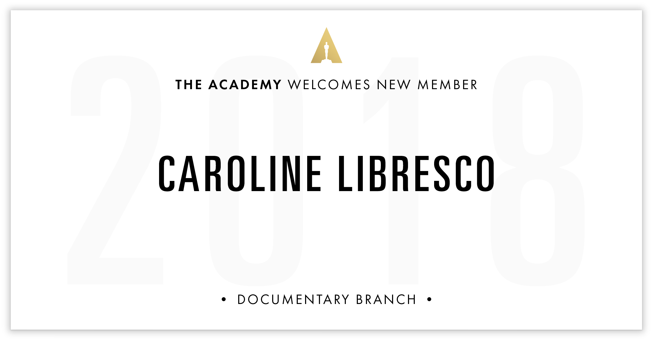 Caroline Libresco is invited!