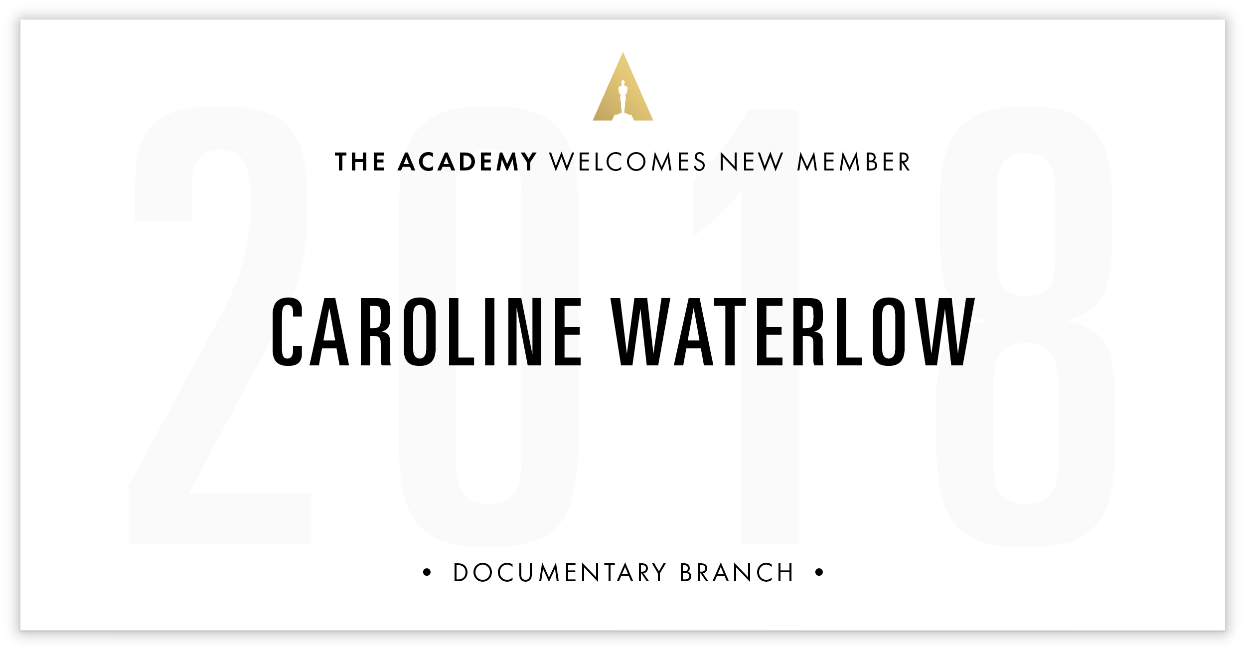 Caroline Waterlow is invited!
