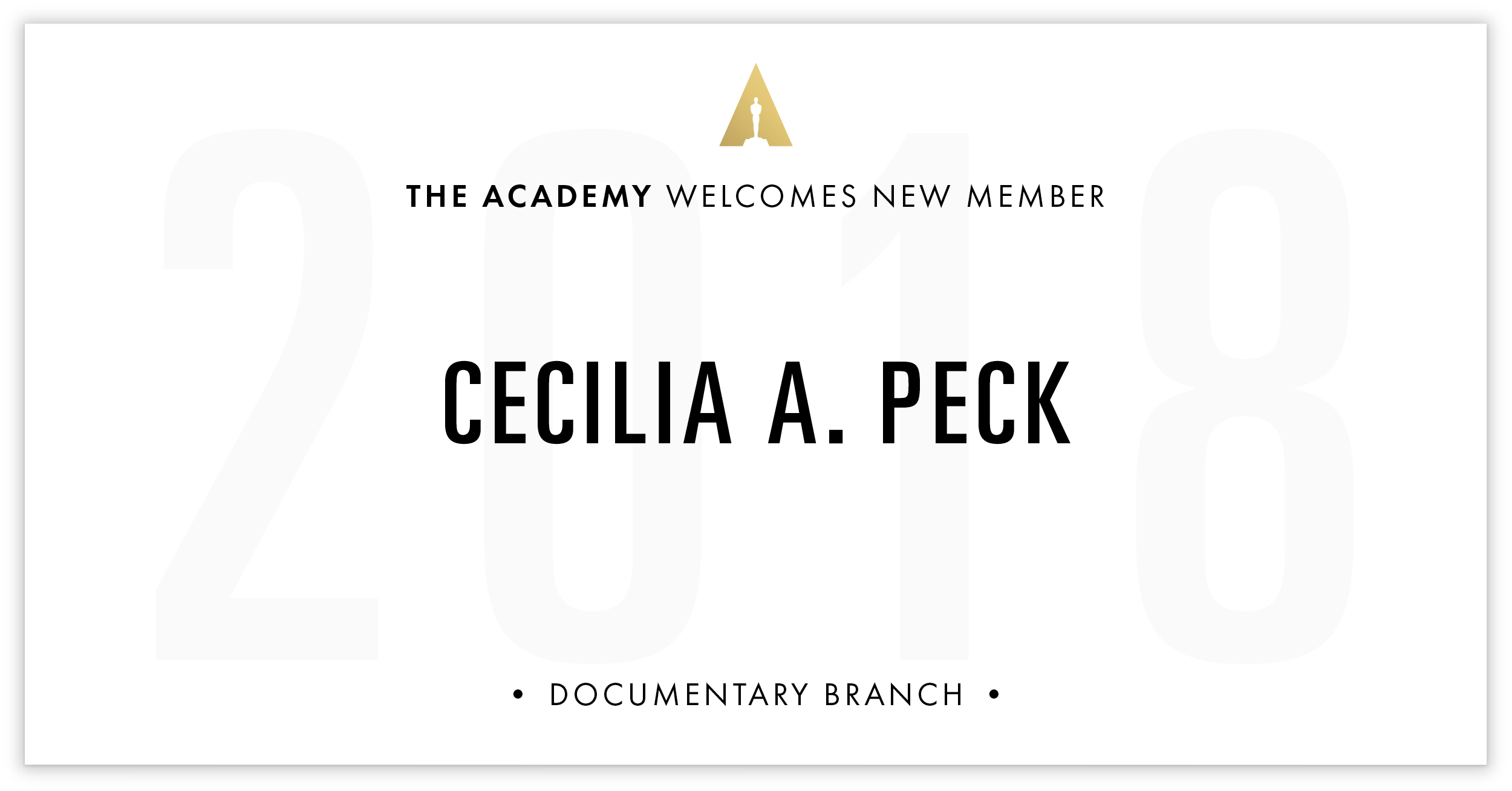 Cecilia Peck is invited!