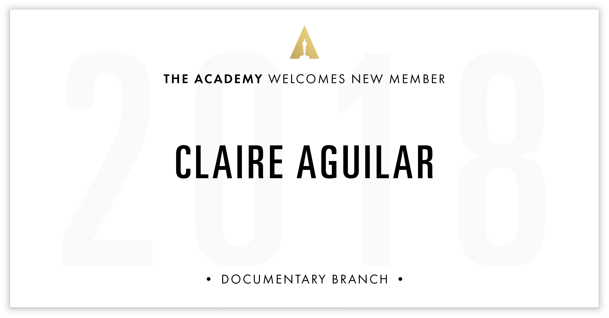 Claire Aguilar is invited!
