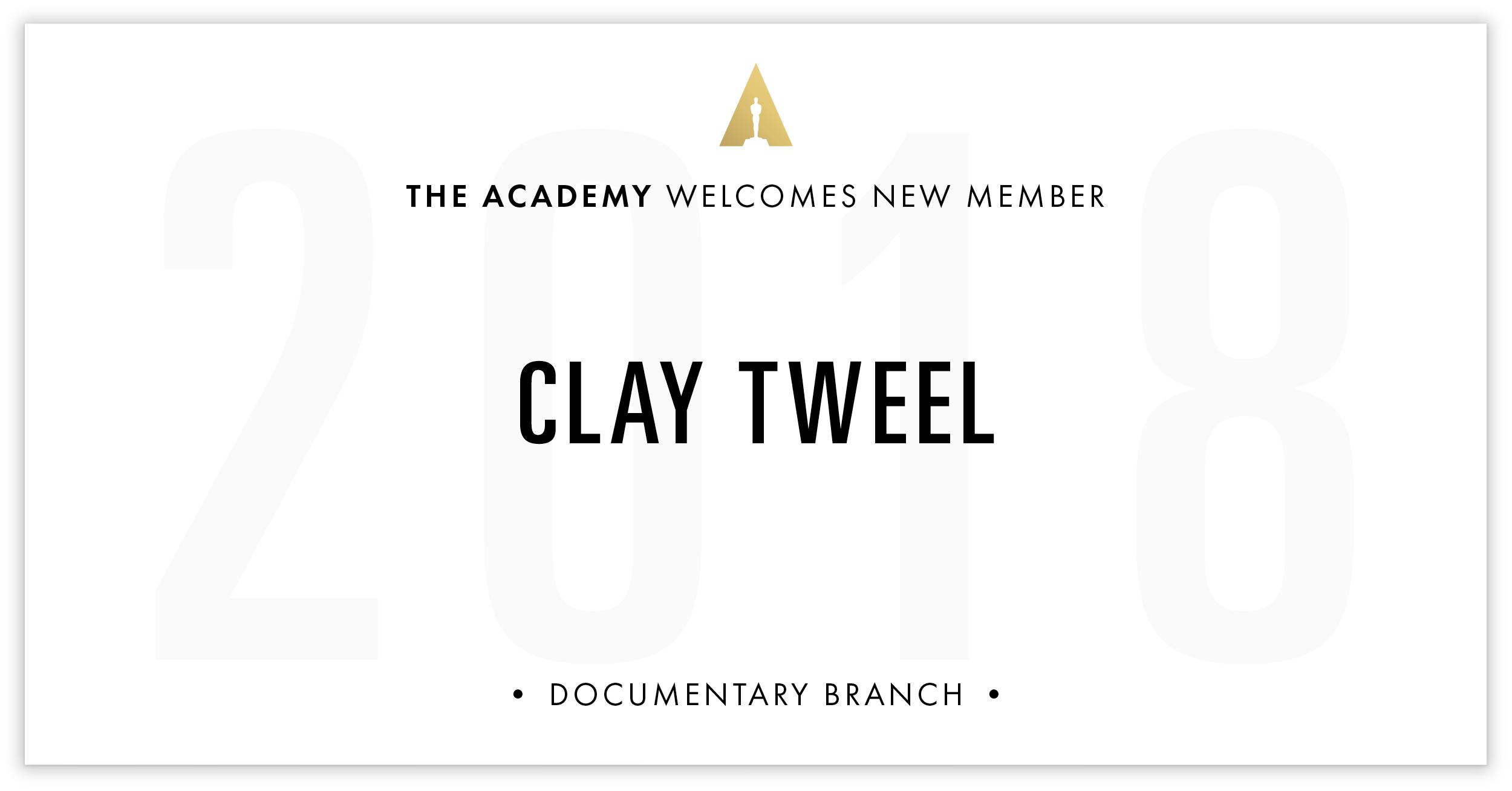Clay Tweel is invited!