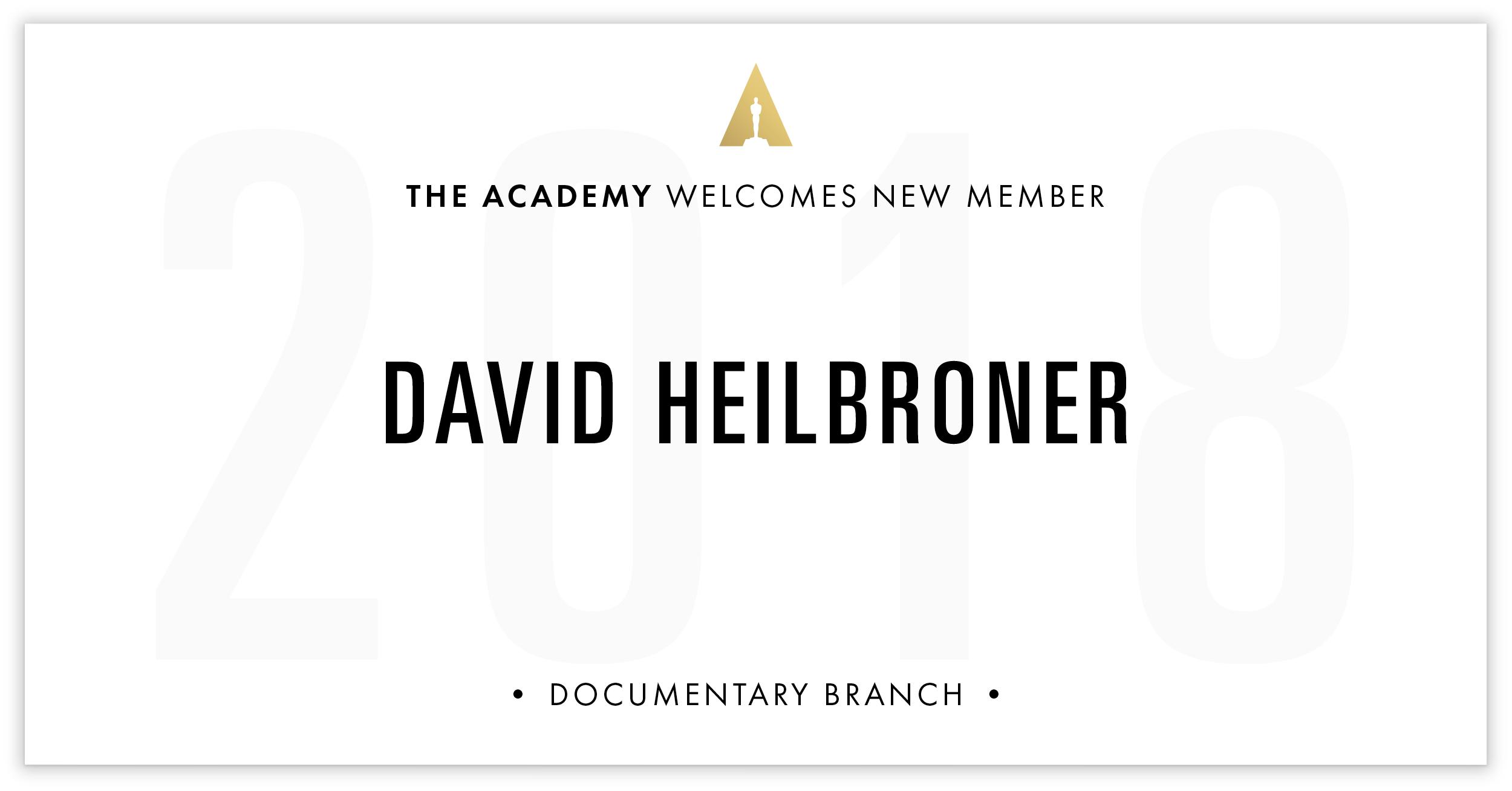 David Heilbroner is invited!