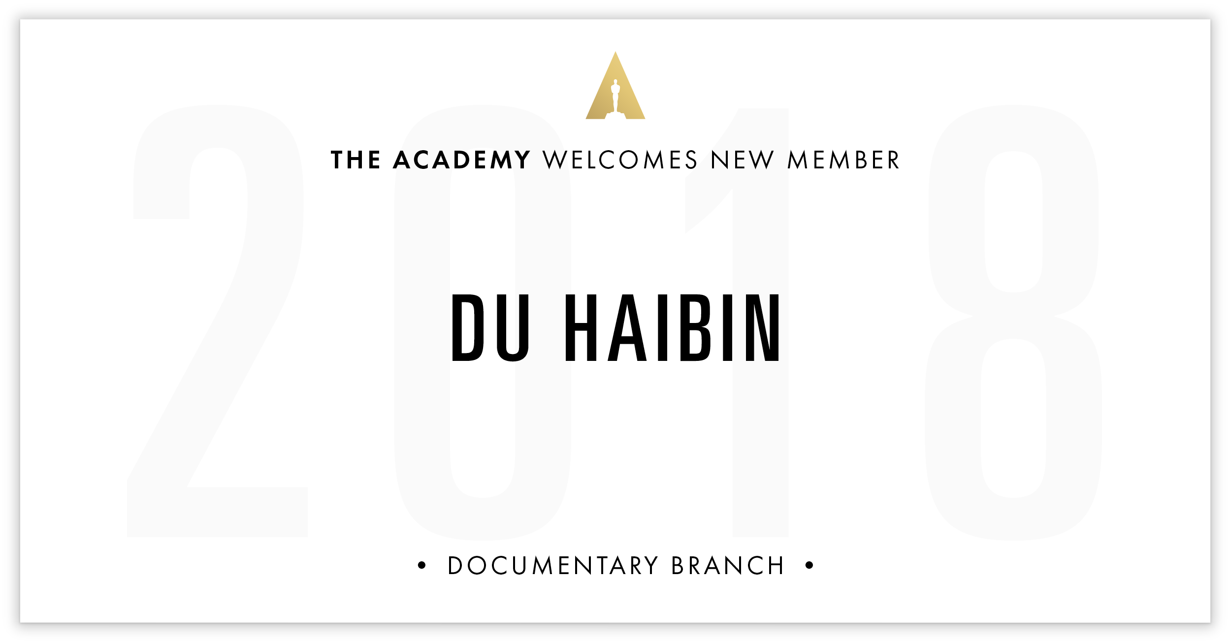 Du Haibin is invited!
