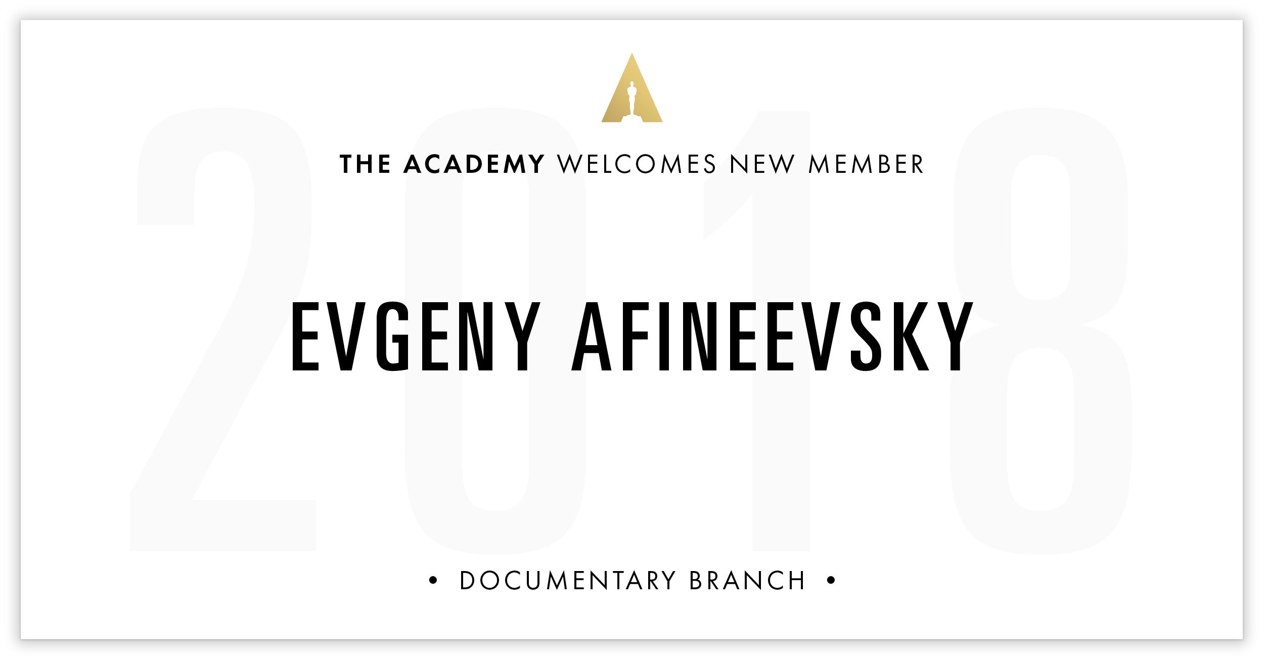 Evgeny Afineevsky is invited!