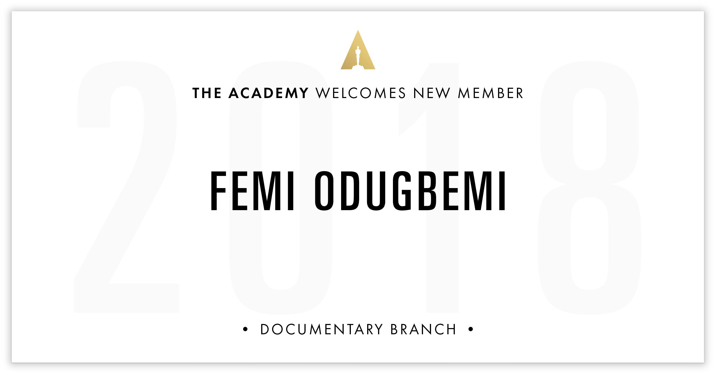 Femi Odugbemi is invited!