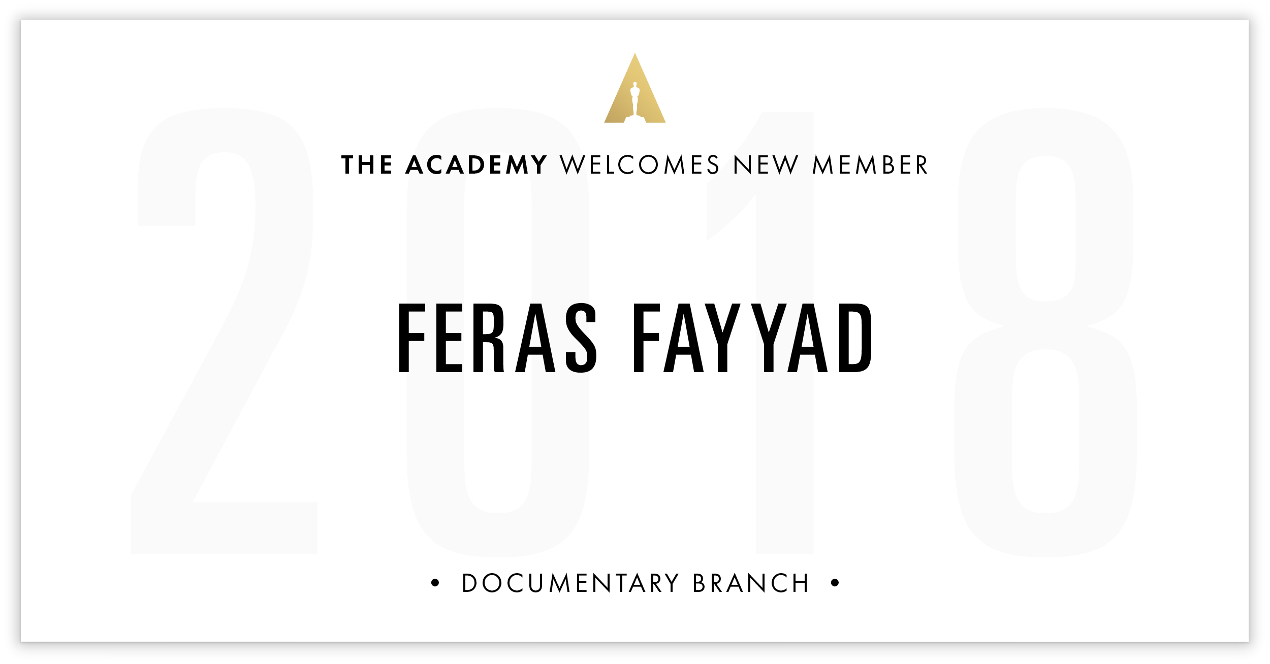 Feras Fayyad is invited!