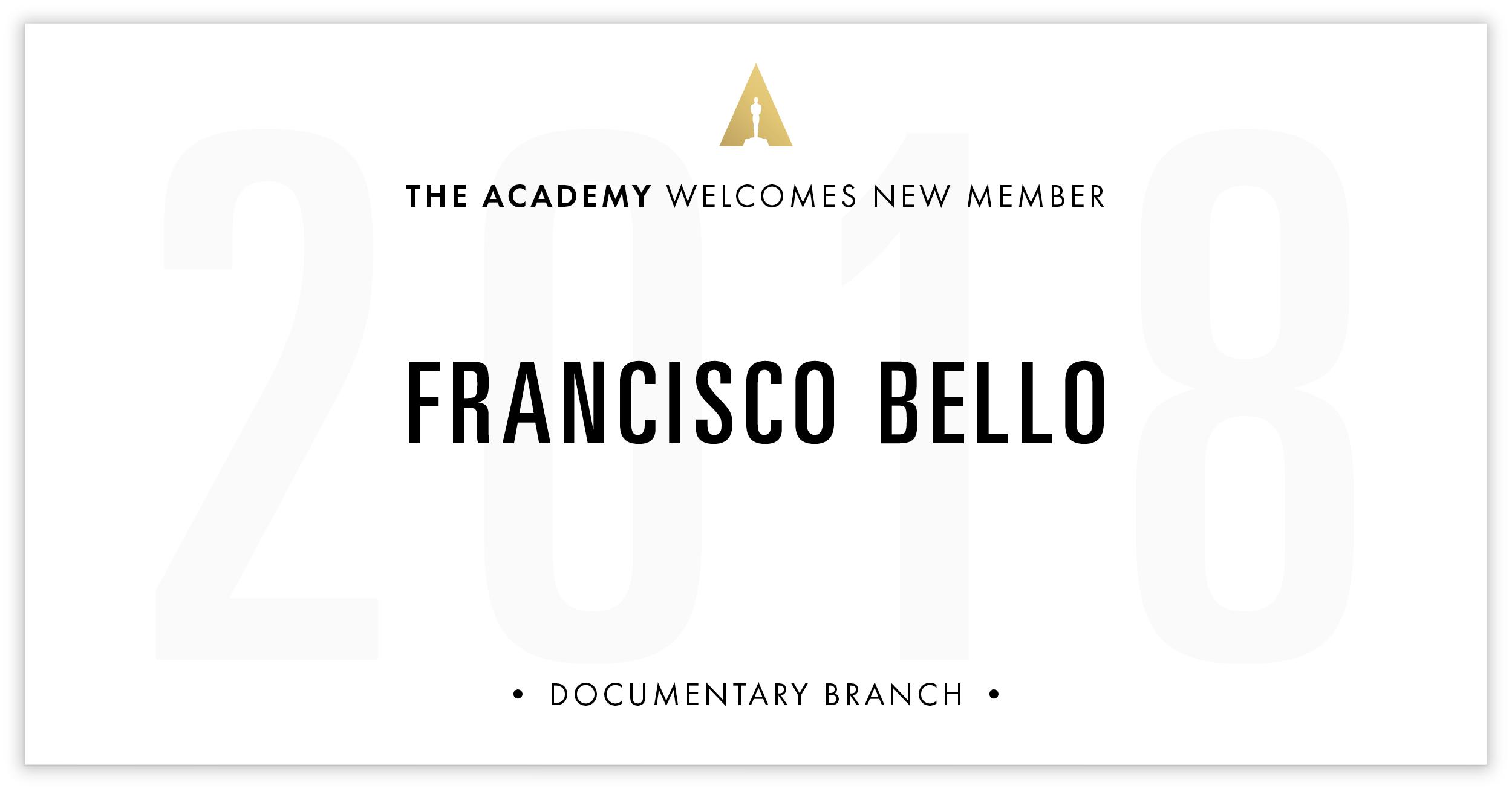 Francisco Bello is invited!