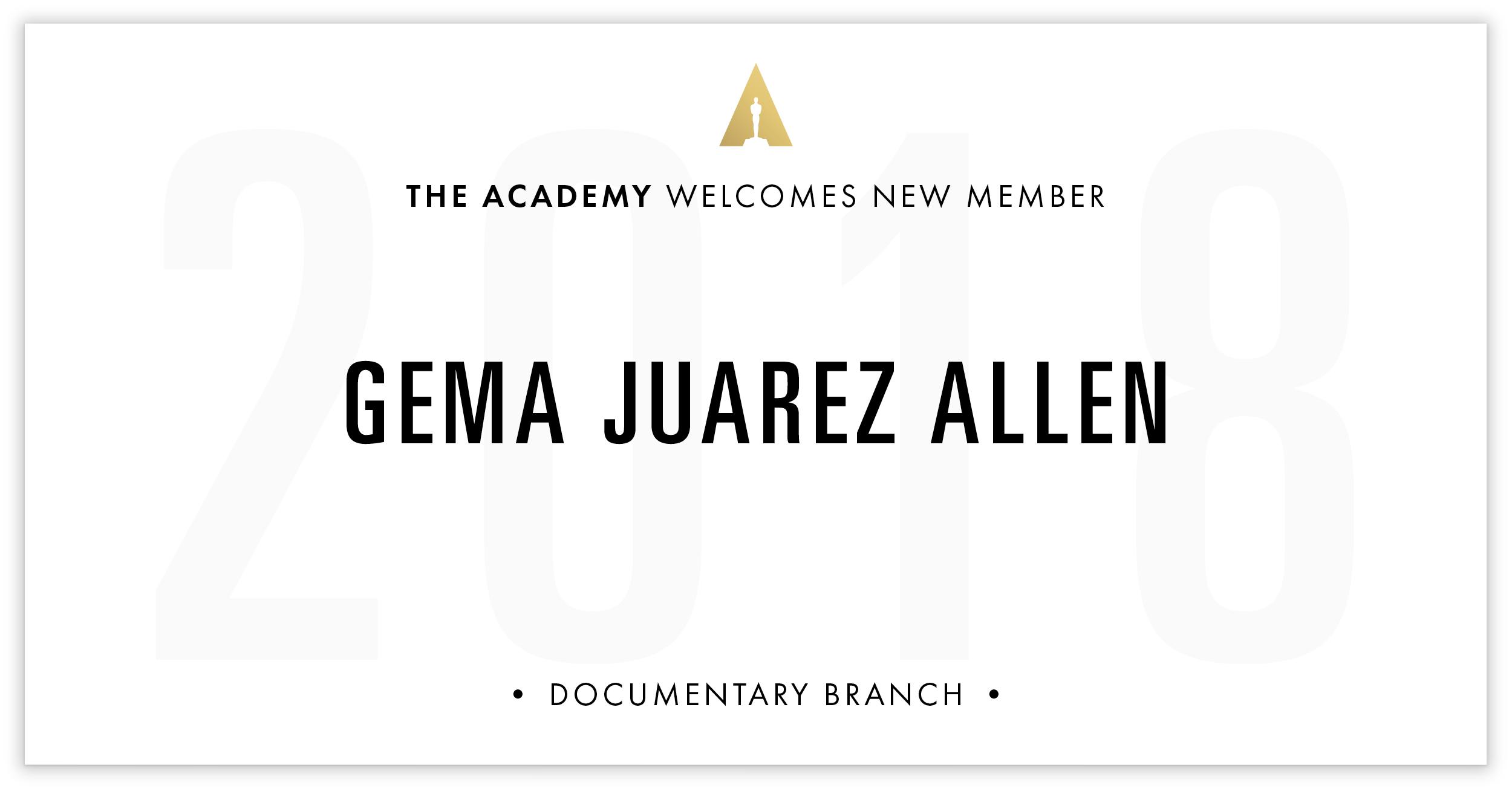 Gema Juarez Allen is invited!