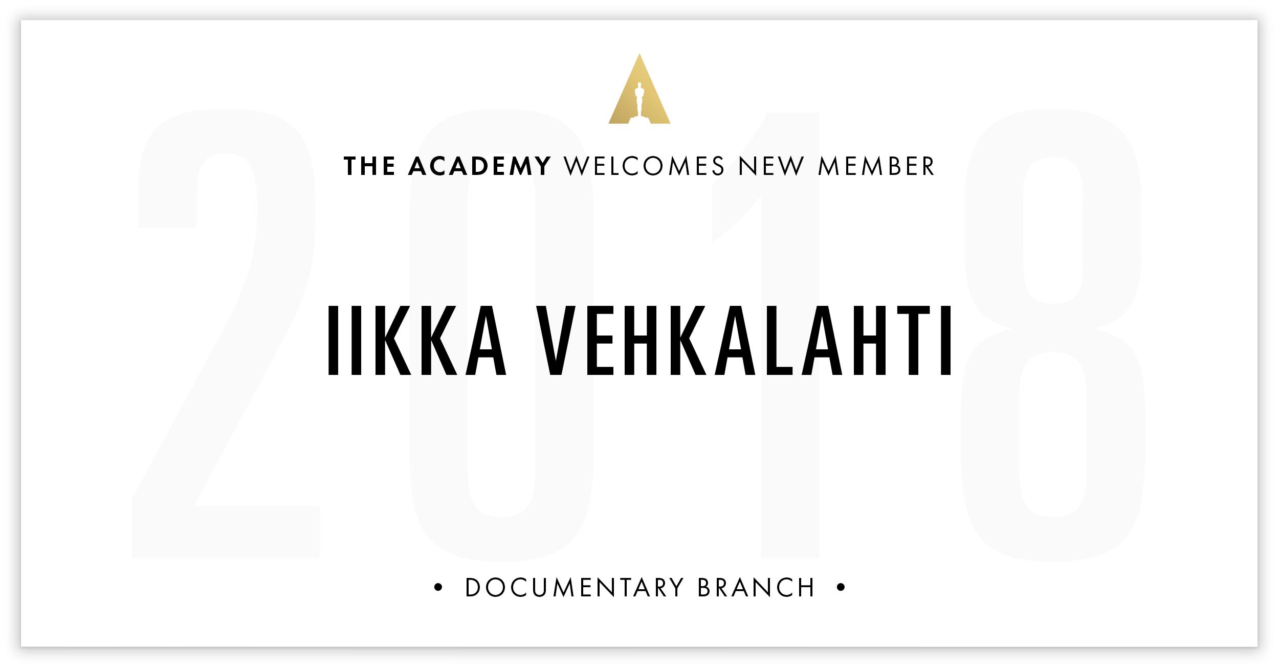 Iikka Vehkalahti is invited!