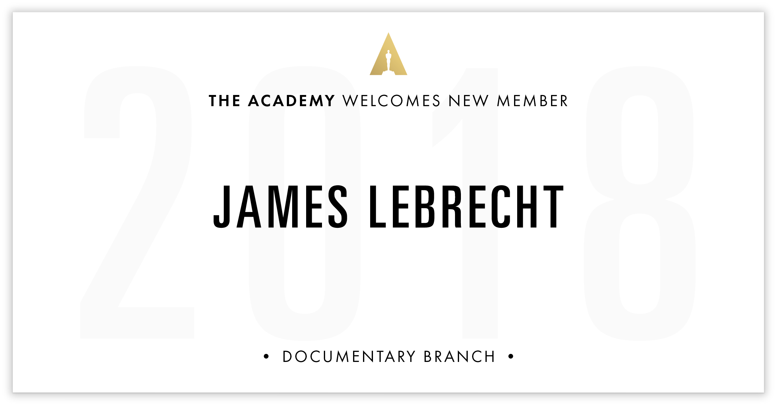 James LeBrecht is invited!