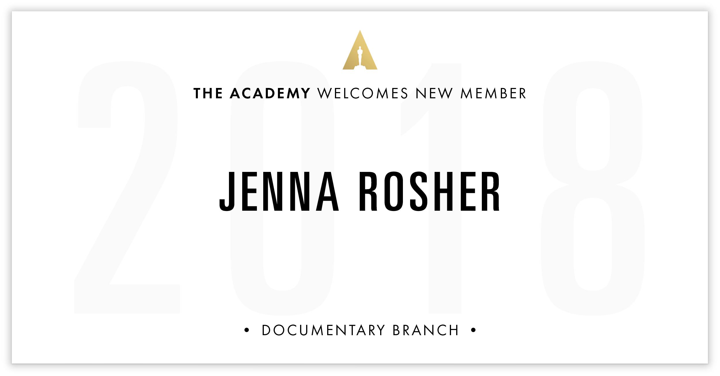 Jenna Rosher is invited!