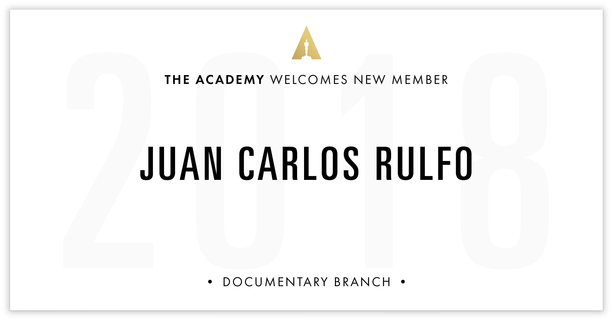 Juan Carlos Rulfo is invited!