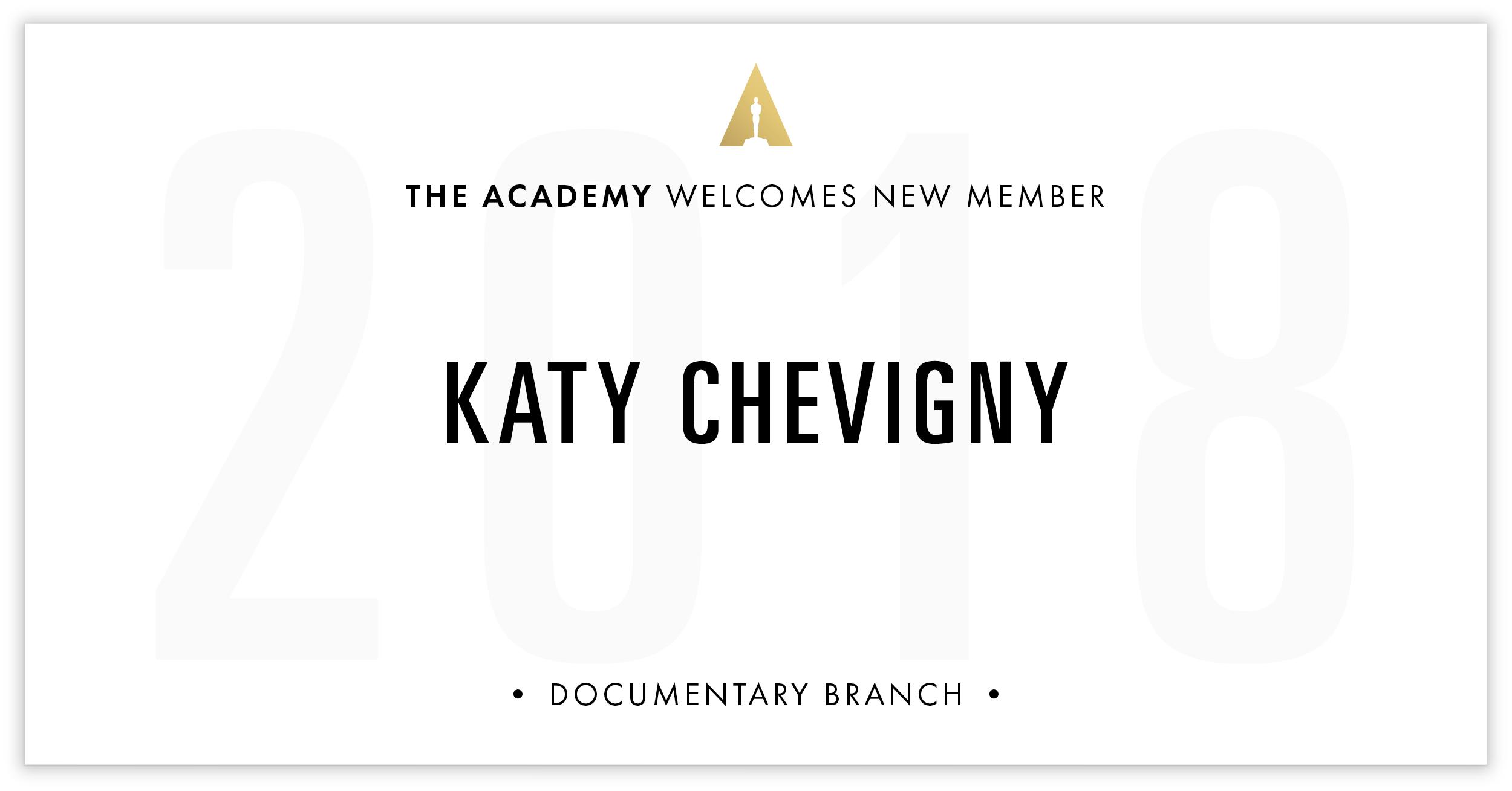 Katy Chevigny is invited!