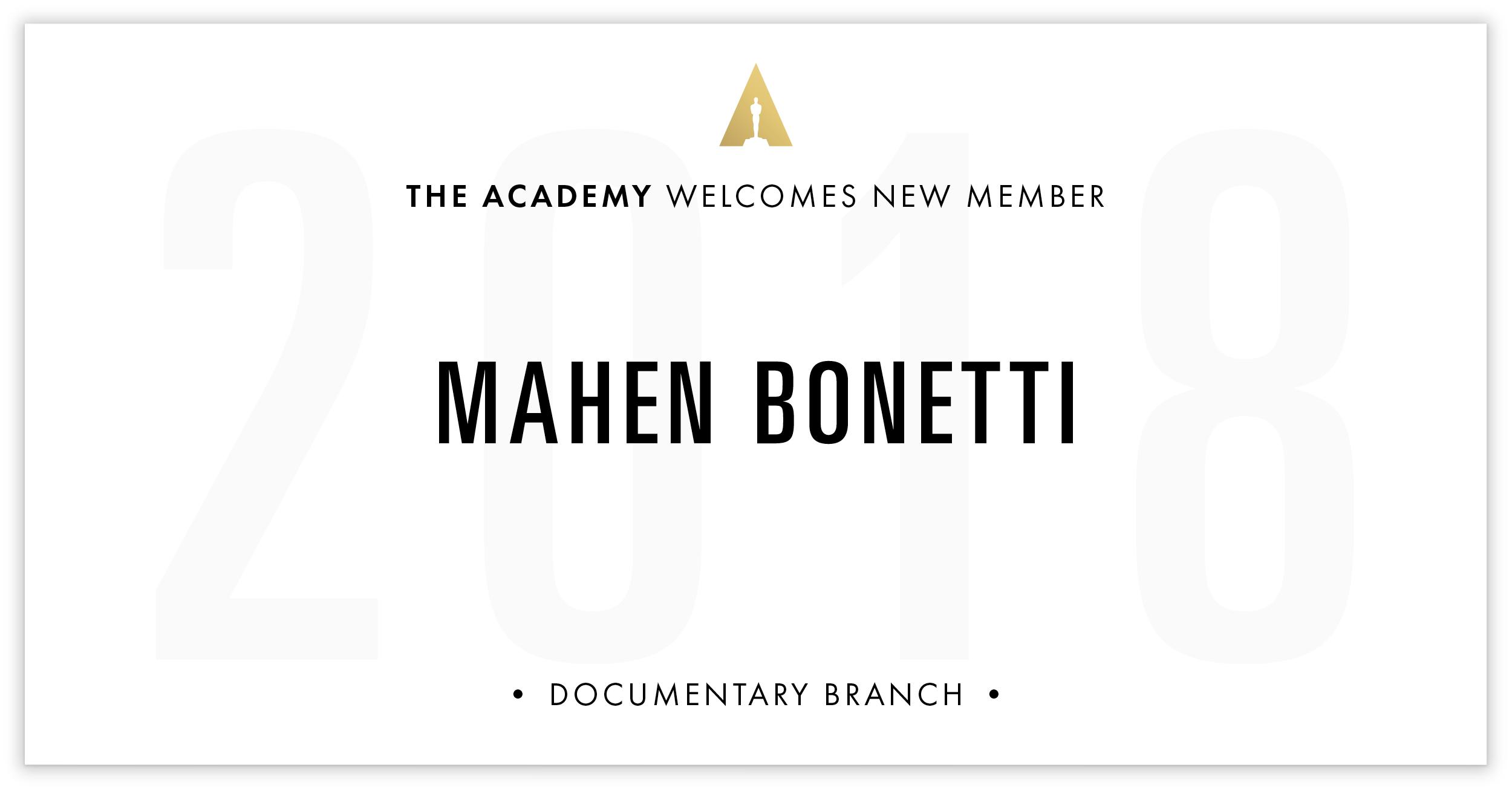 Mahen Bonetti is invited!
