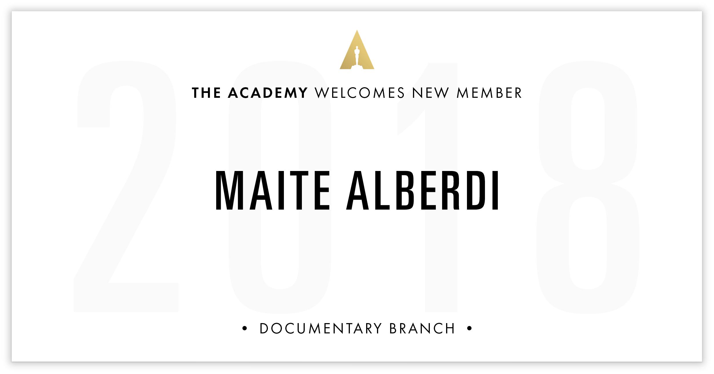 Maite Alberdi is invited!
