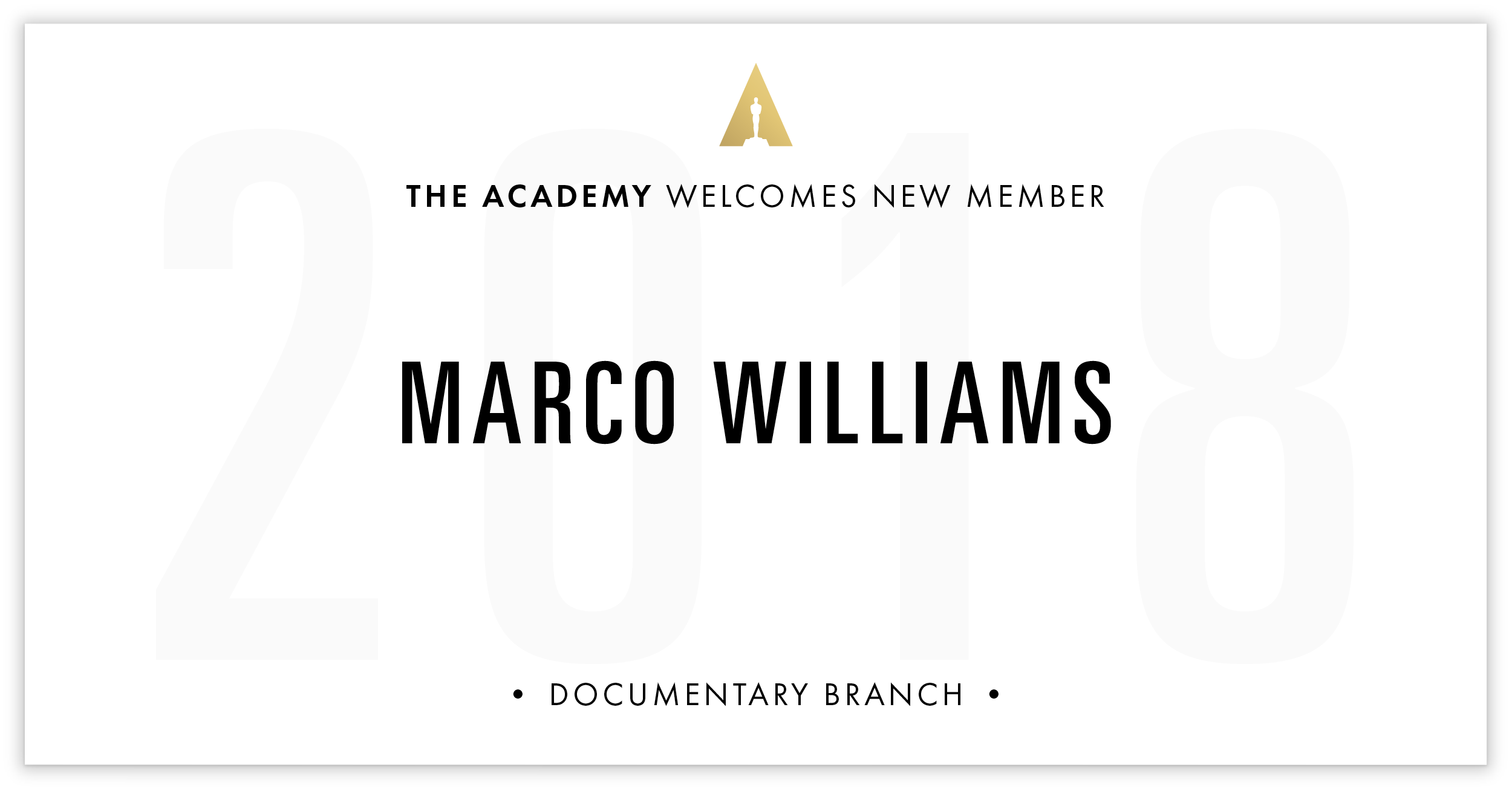 Marco Williams is invited!