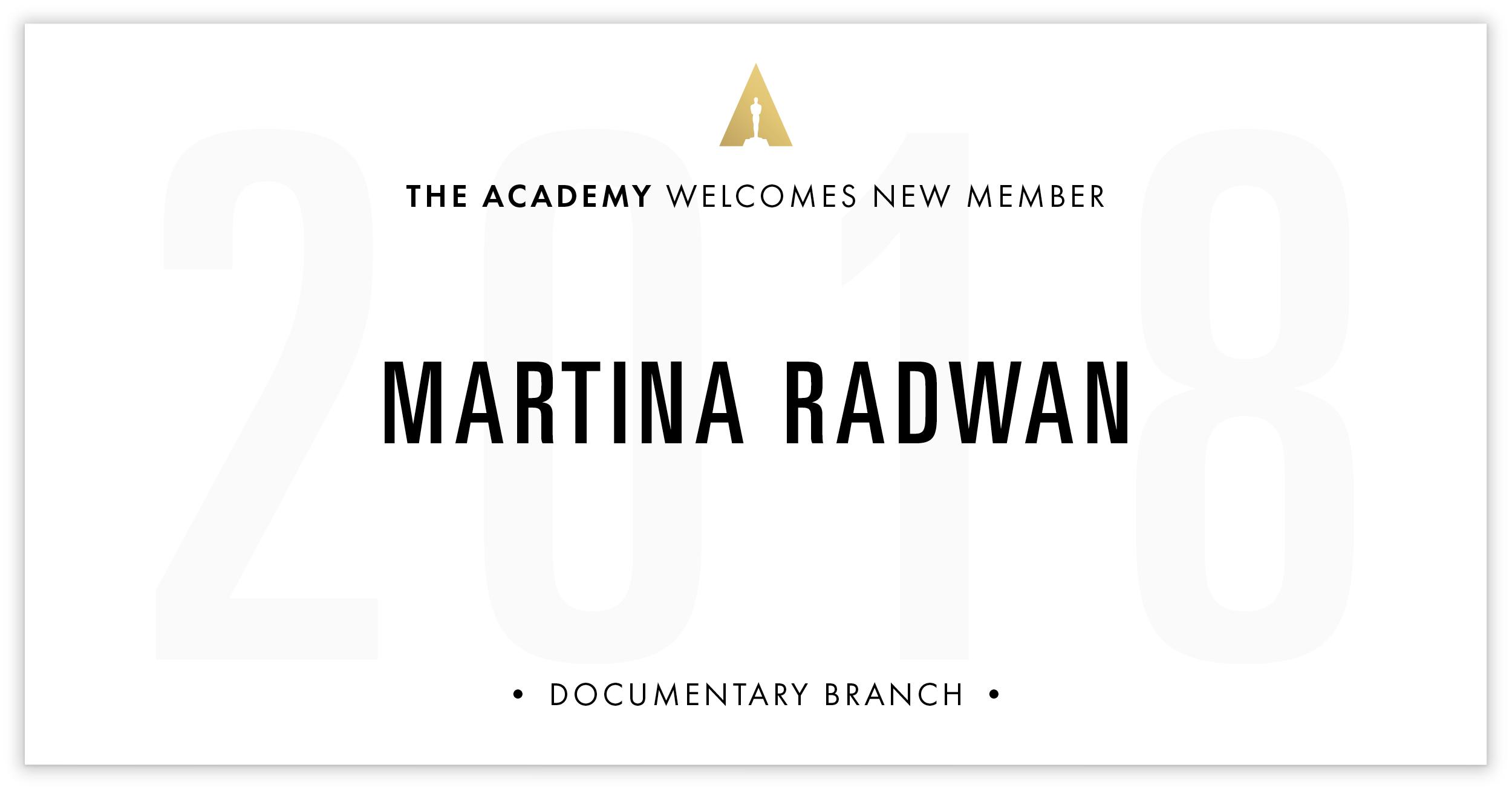 Martina Radwan is invited!
