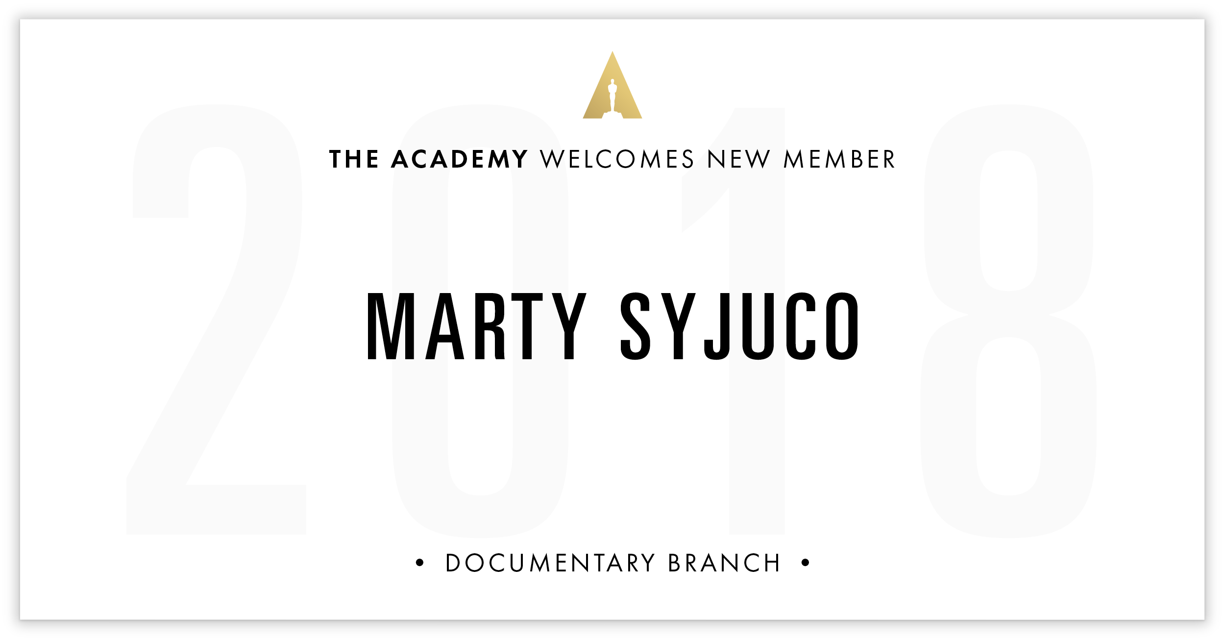 Marty Syjuco is invited!